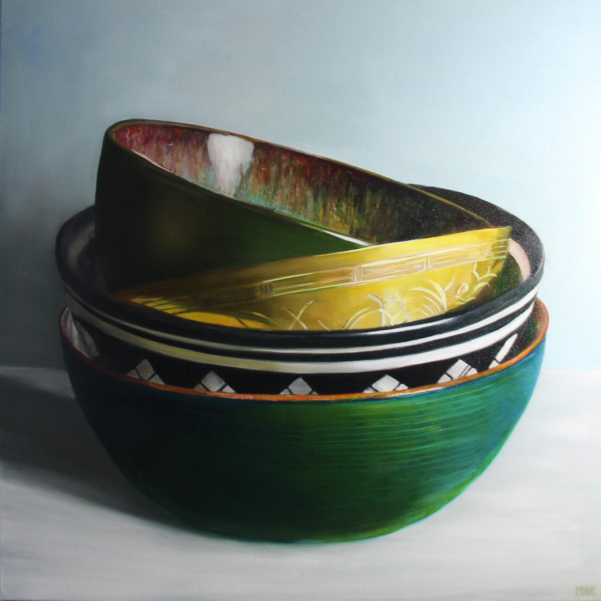 Kunst: Bamako – assorted Bowls van kunstenaar Minke Buikema