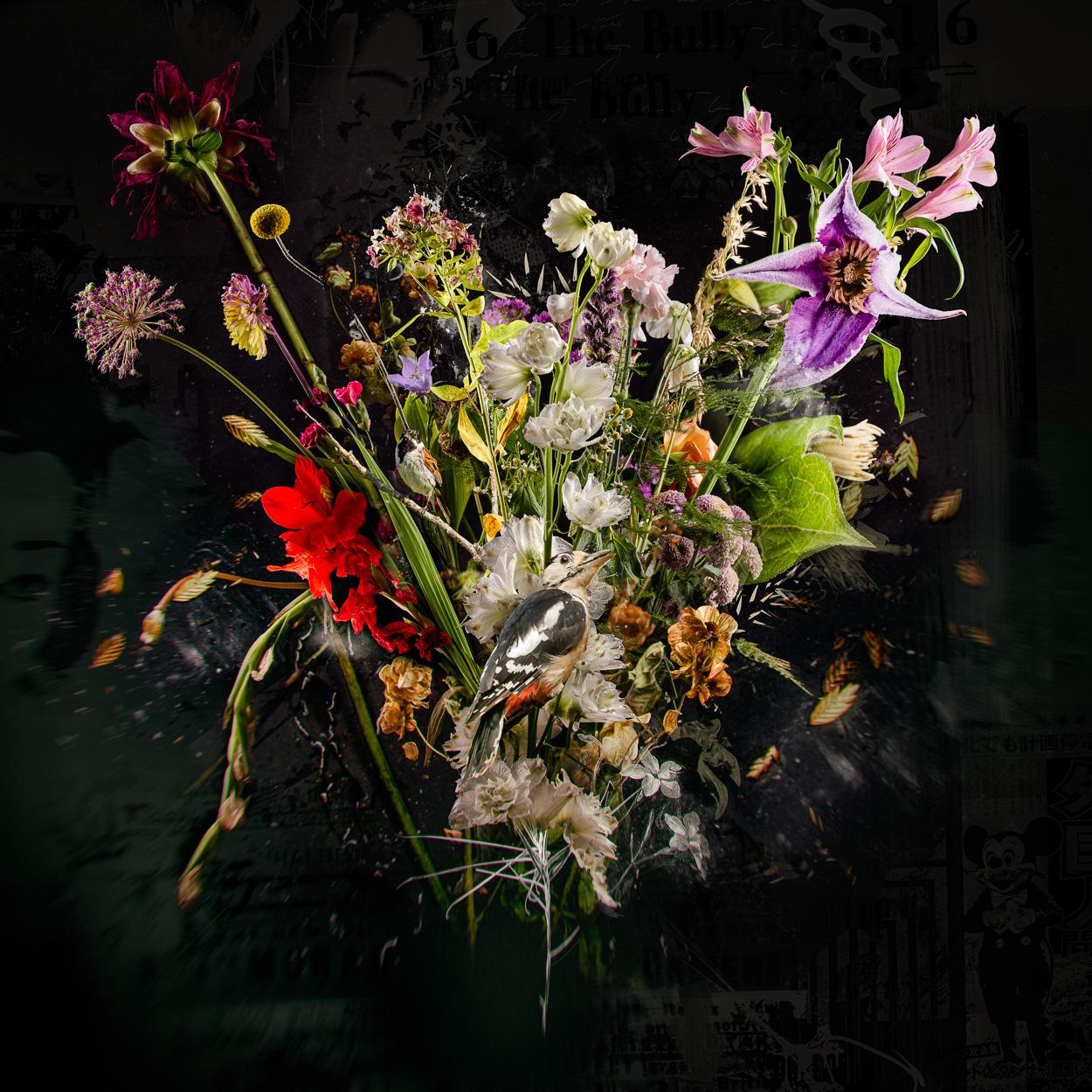 Kunst: Bouquet XXVIV van kunstenaar Teis Albers