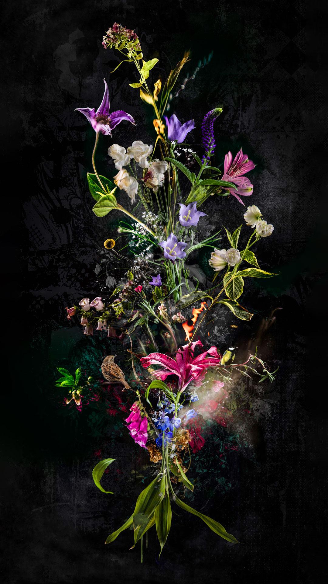 Kunst: Bouquet XXX van kunstenaar Teis Albers
