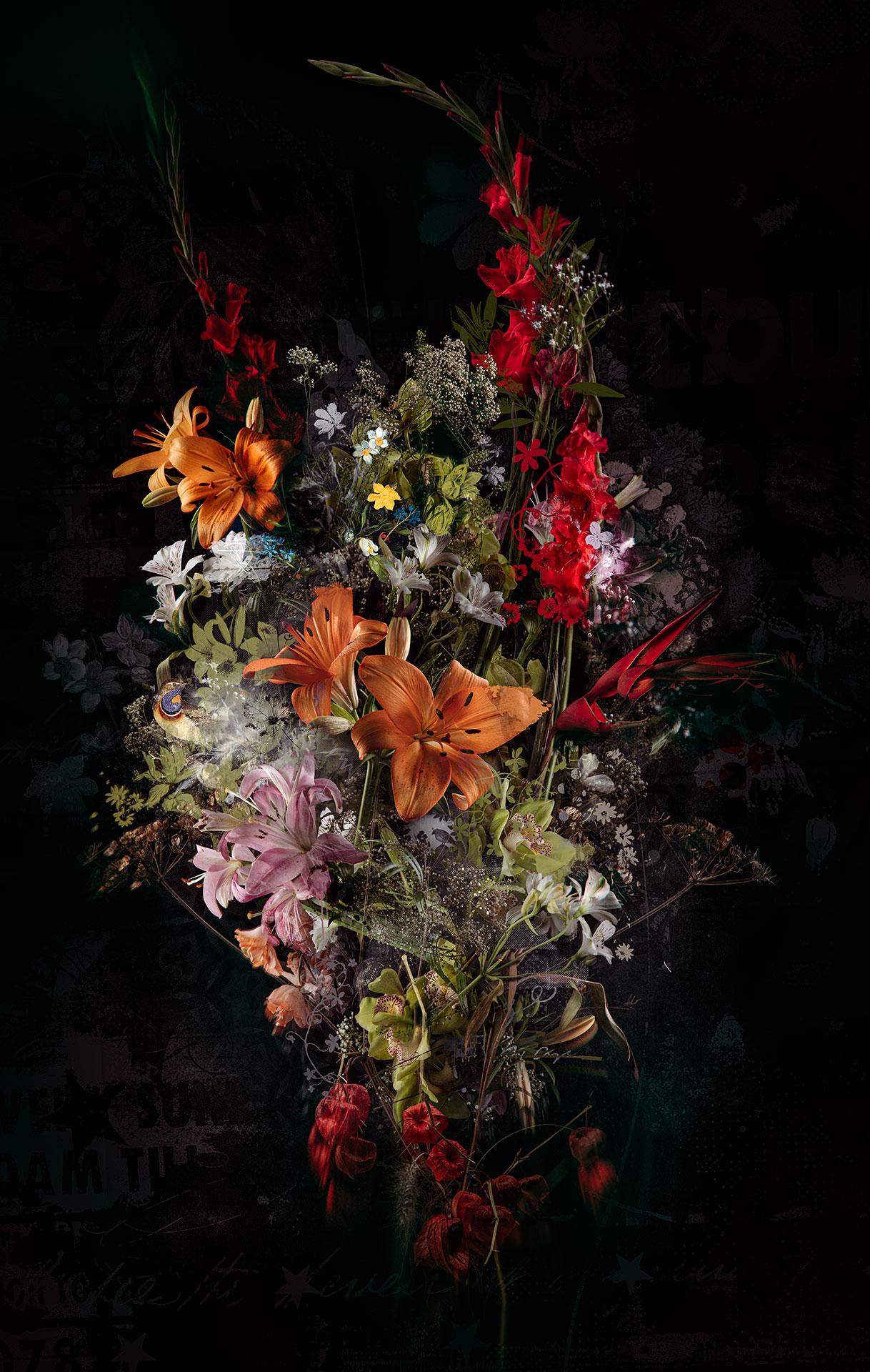 Kunst: Bouquet XXXIII van kunstenaar Teis Albers