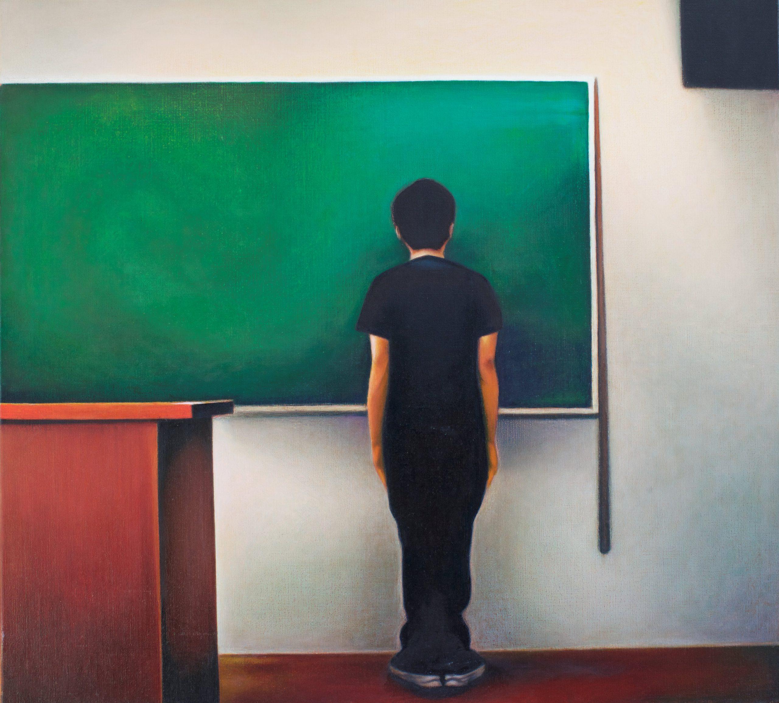 Kunst: francis bacon in turbulence van kunstenaar Leo Wijnhoven