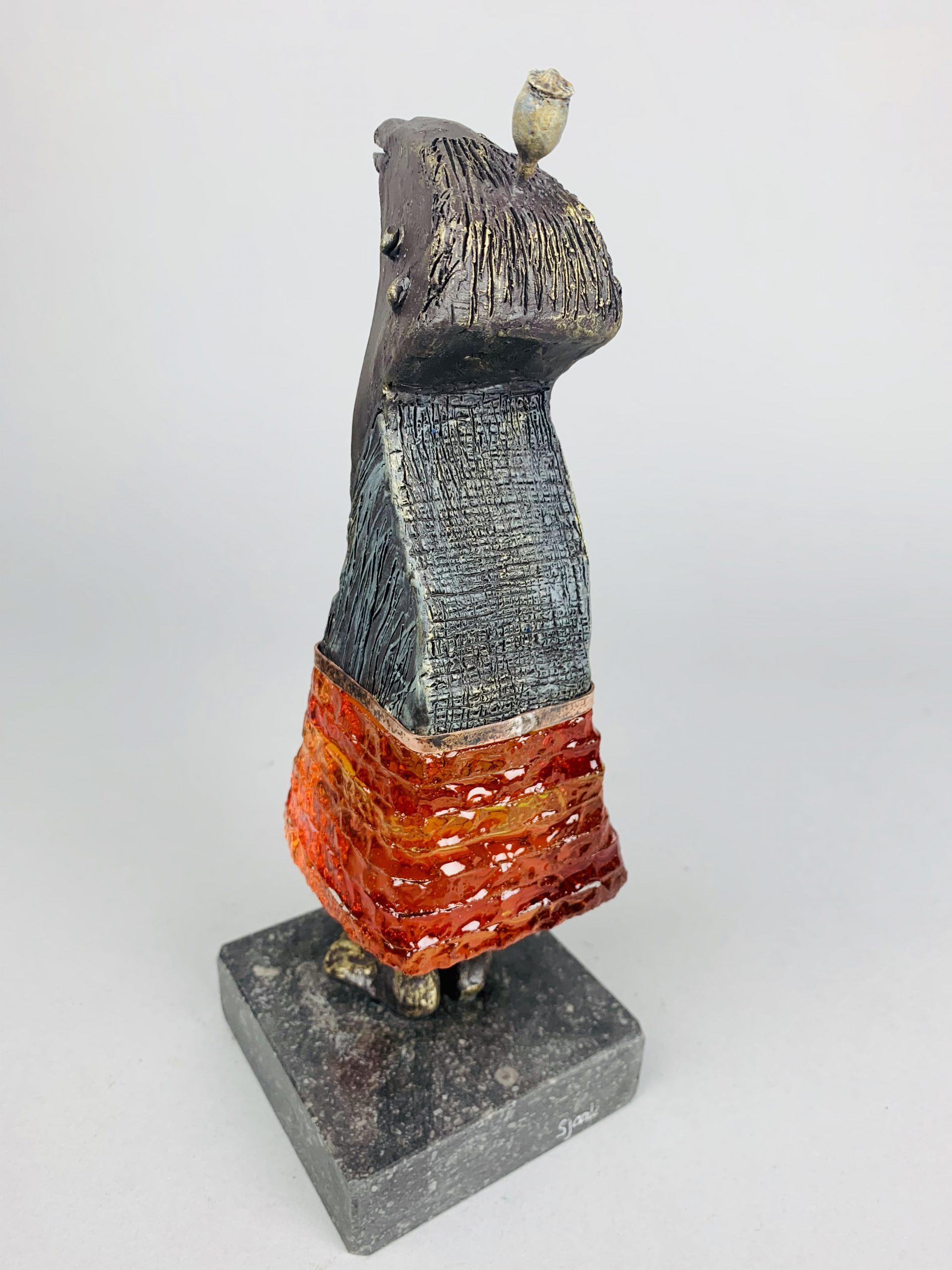 Kunst: La vie en rose (oranje) van kunstenaar Sjaak Smetsers