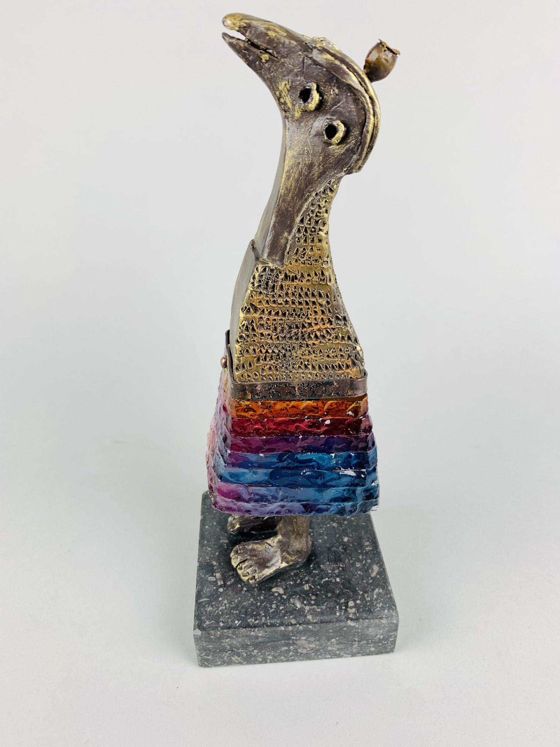 Kunst: La vie est belle (blauw/paars/rood) van kunstenaar Sjaak Smetsers