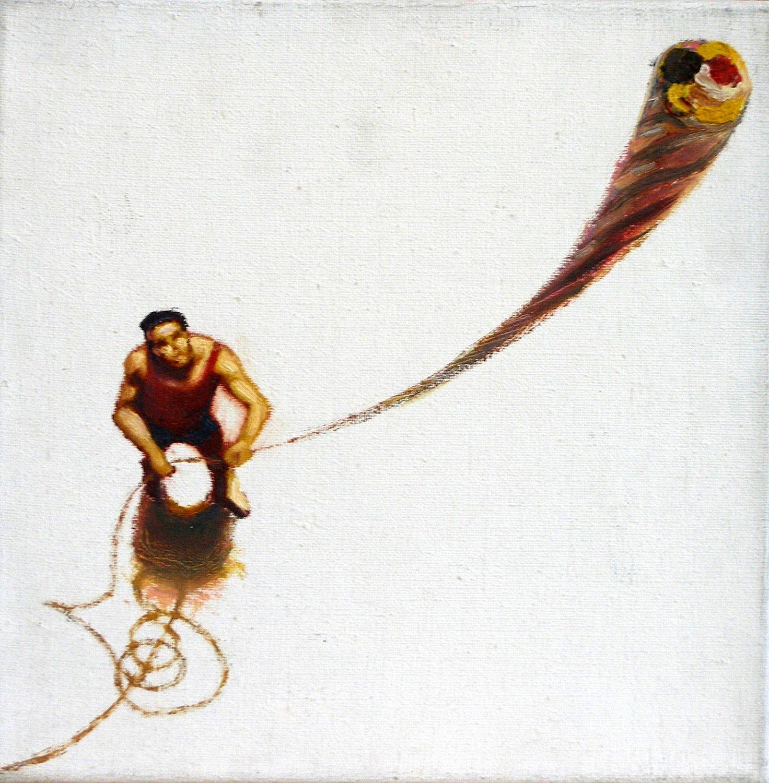 Kunst: palet hooghouden van kunstenaar Leo Wijnhoven