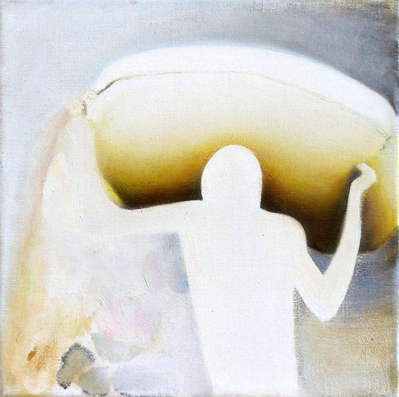 Kunst: zakdrager van kunstenaar Leo Wijnhoven