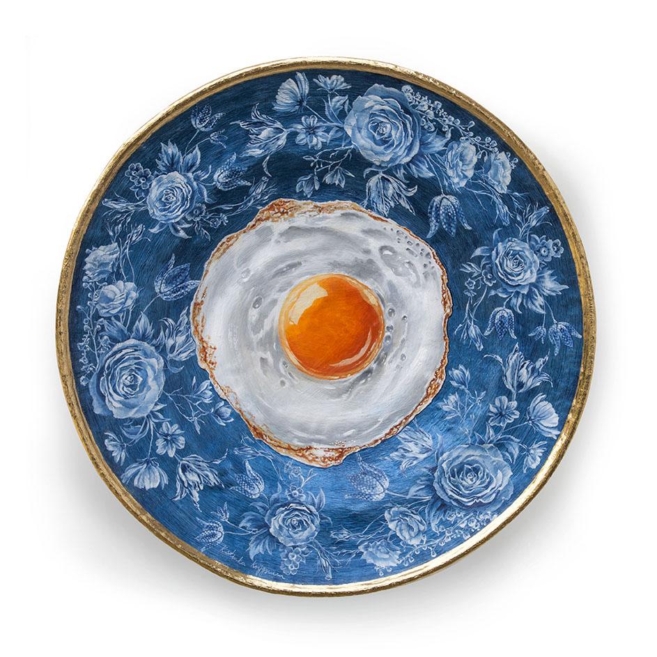 Kunst: Blue egg van kunstenaar Katinka Krijgsman