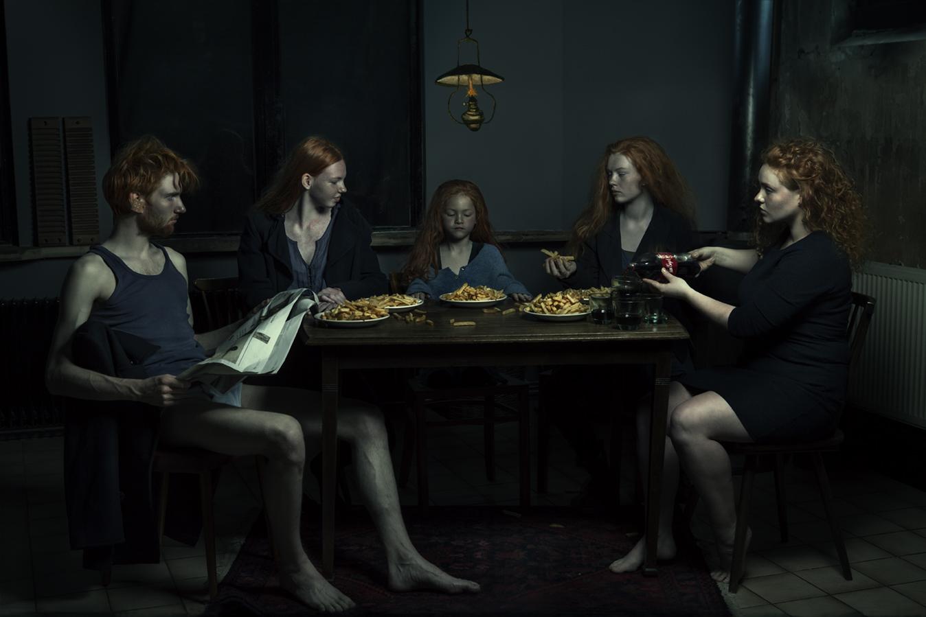 Kunst: Last5 potatao supper van kunstenaar Jenny Boot