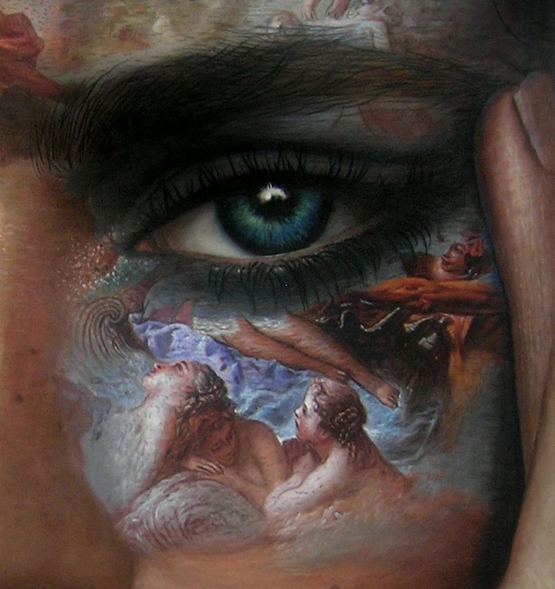 Kunst: Sain =t or Sinner van kunstenaar Frank E Hollywood