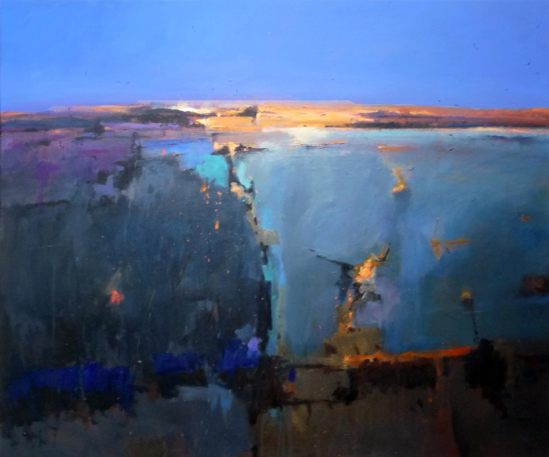 Kunst: abstract landscape 29 van kunstenaar Cees Vegh