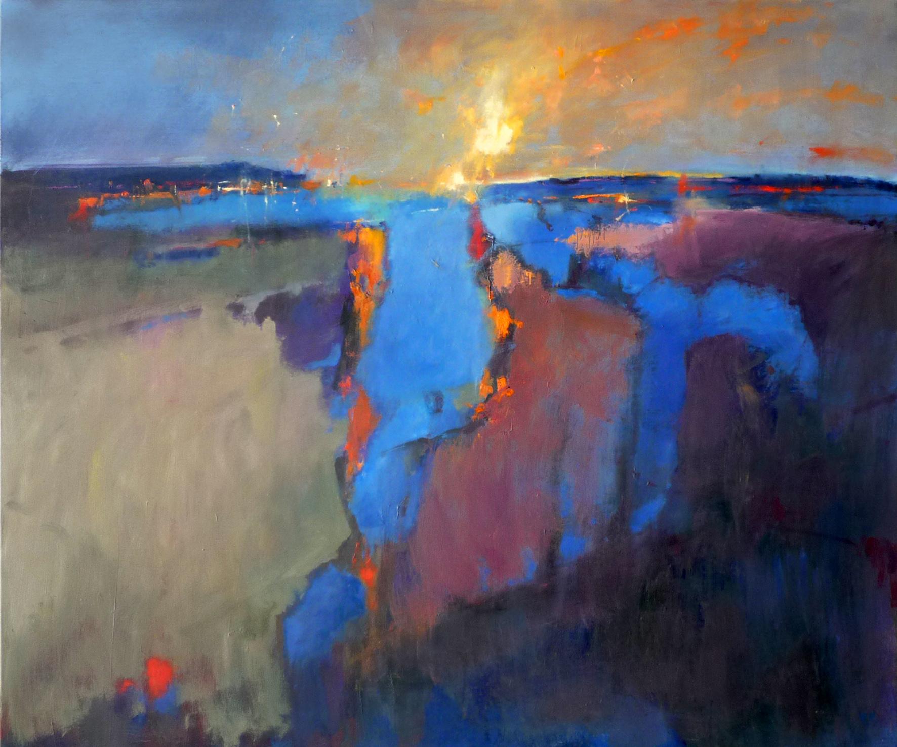 Kunst: abstract landscape 30 van kunstenaar Cees Vegh