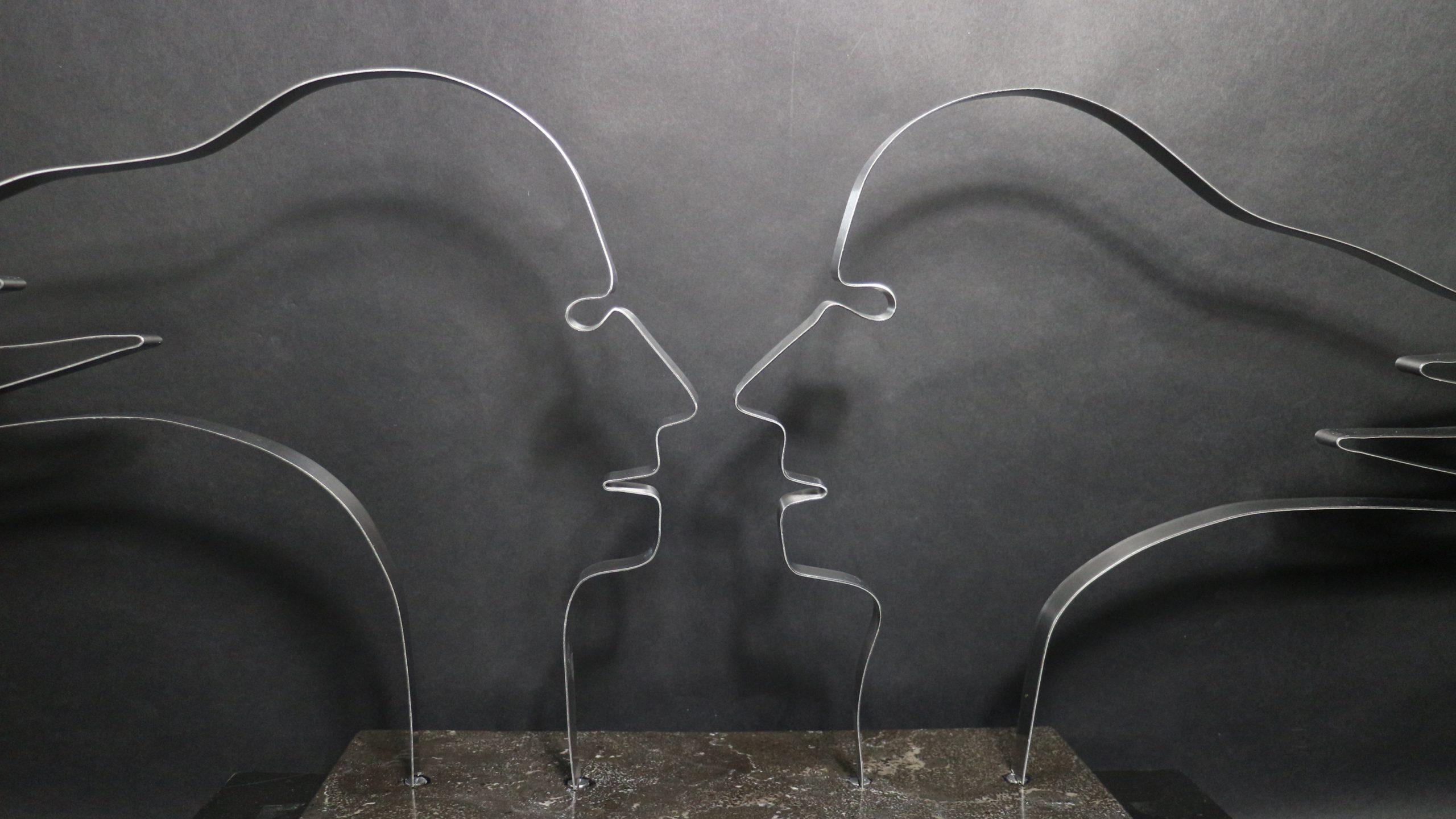 Kunst: Face to Face van kunstenaar Bert Verboon