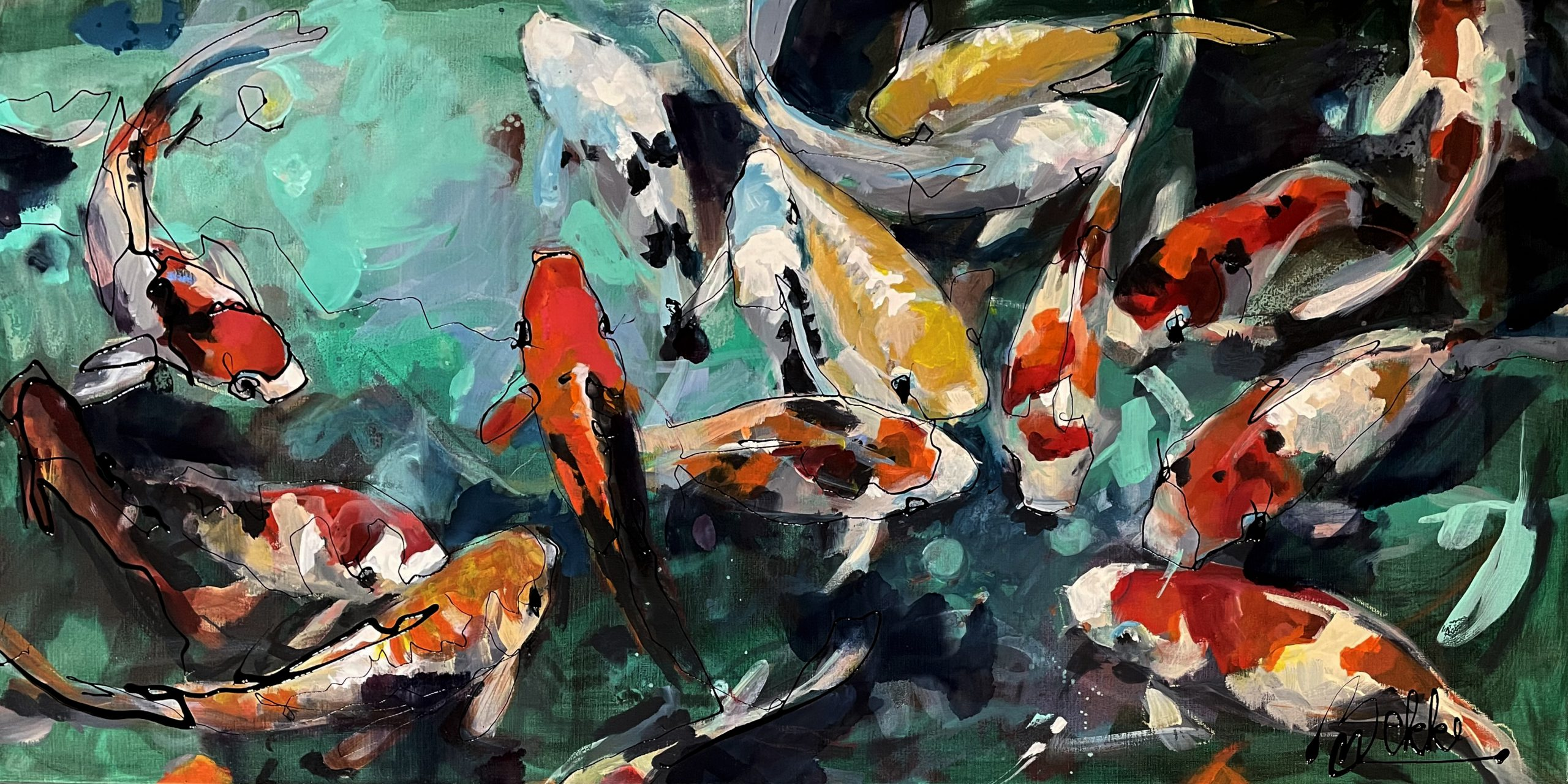 Kunst: Koi's van kunstenaar Marieke Bekke