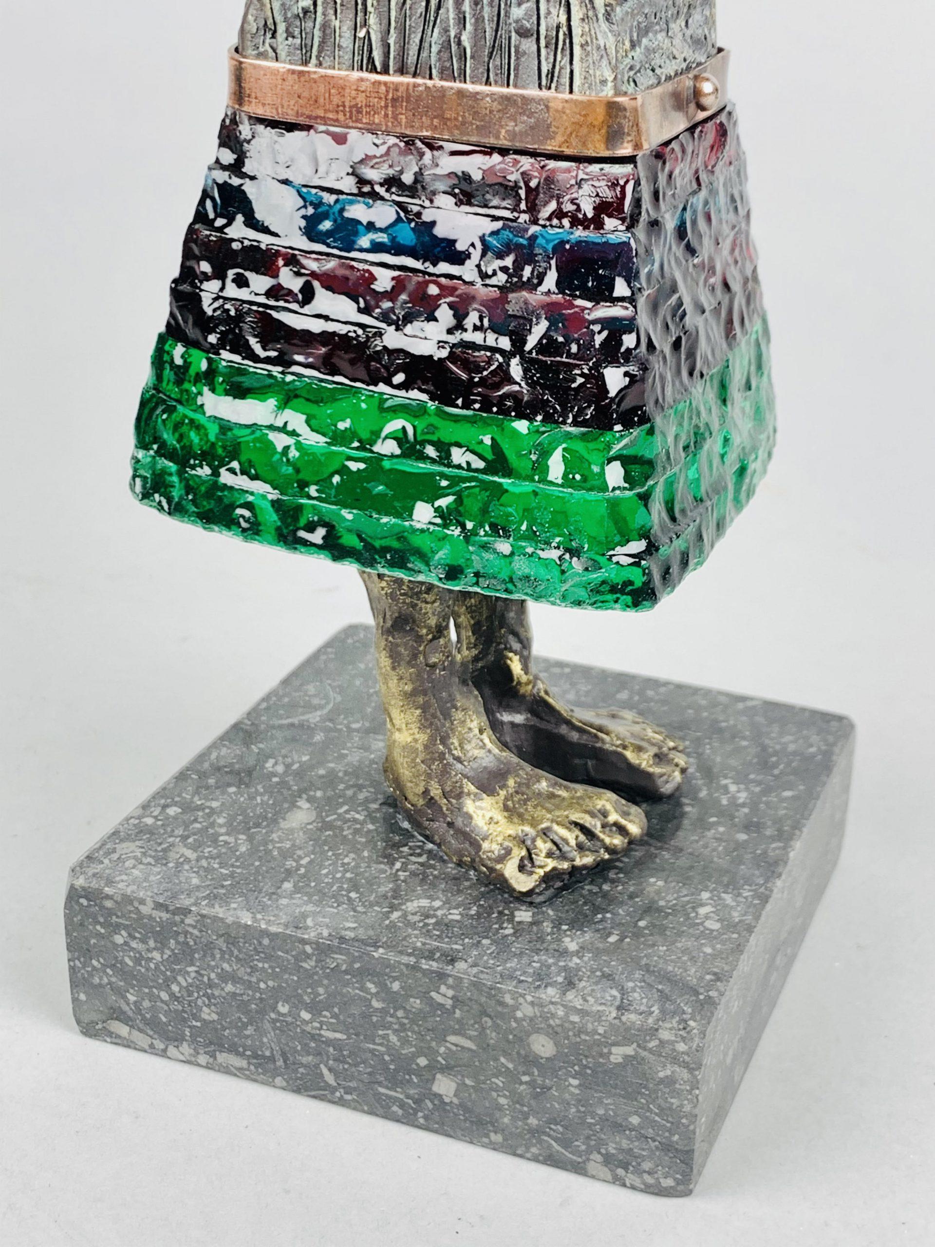 Kunst: La vie en rose (groen/ rood) van kunstenaar Sjaak Smetsers