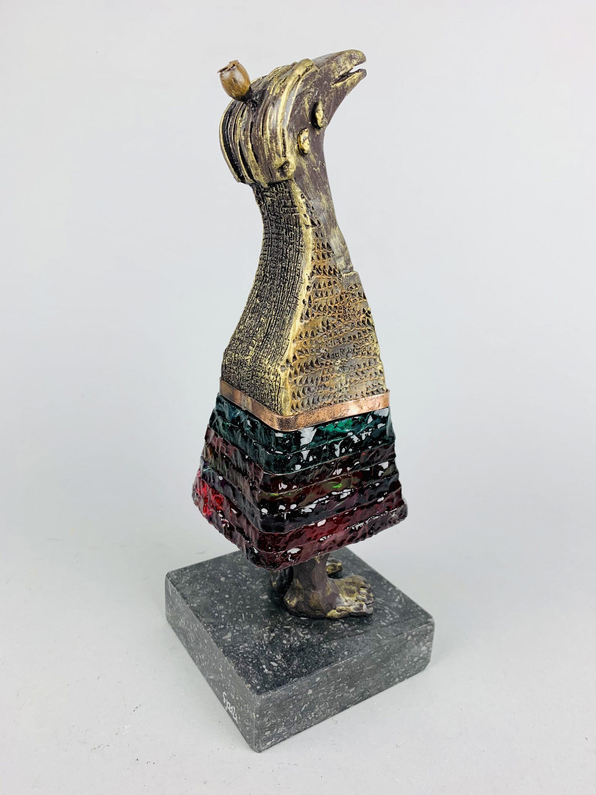 Kunst: La vie est belle (groen/rood) van kunstenaar Sjaak Smetsers