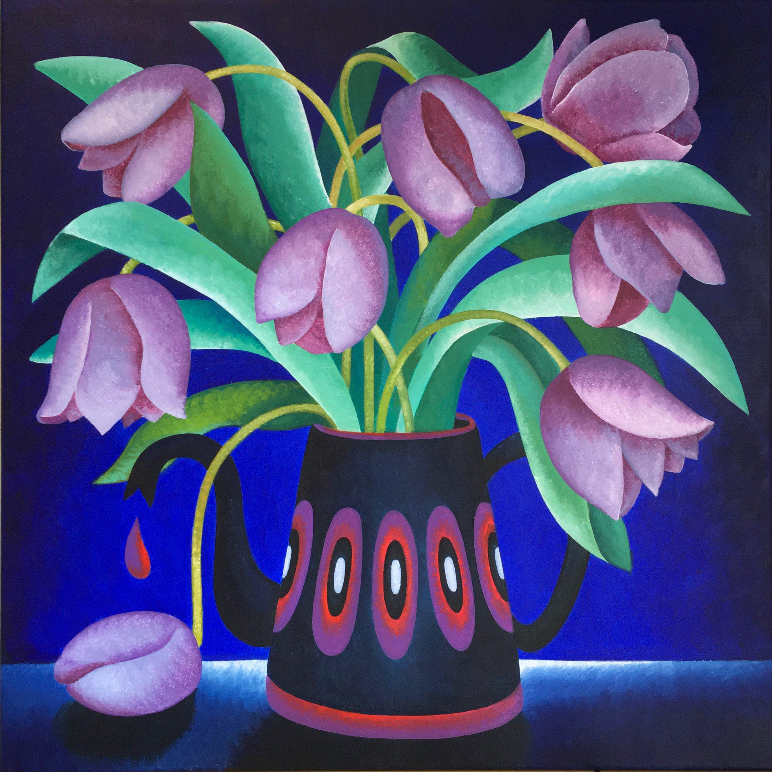 Kunst: Today's blues van kunstenaar Yvonne Zomerdijk