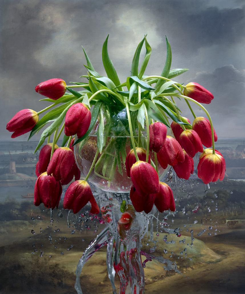 Kunst: Tulip Fountain van kunstenaar Hans Withoos