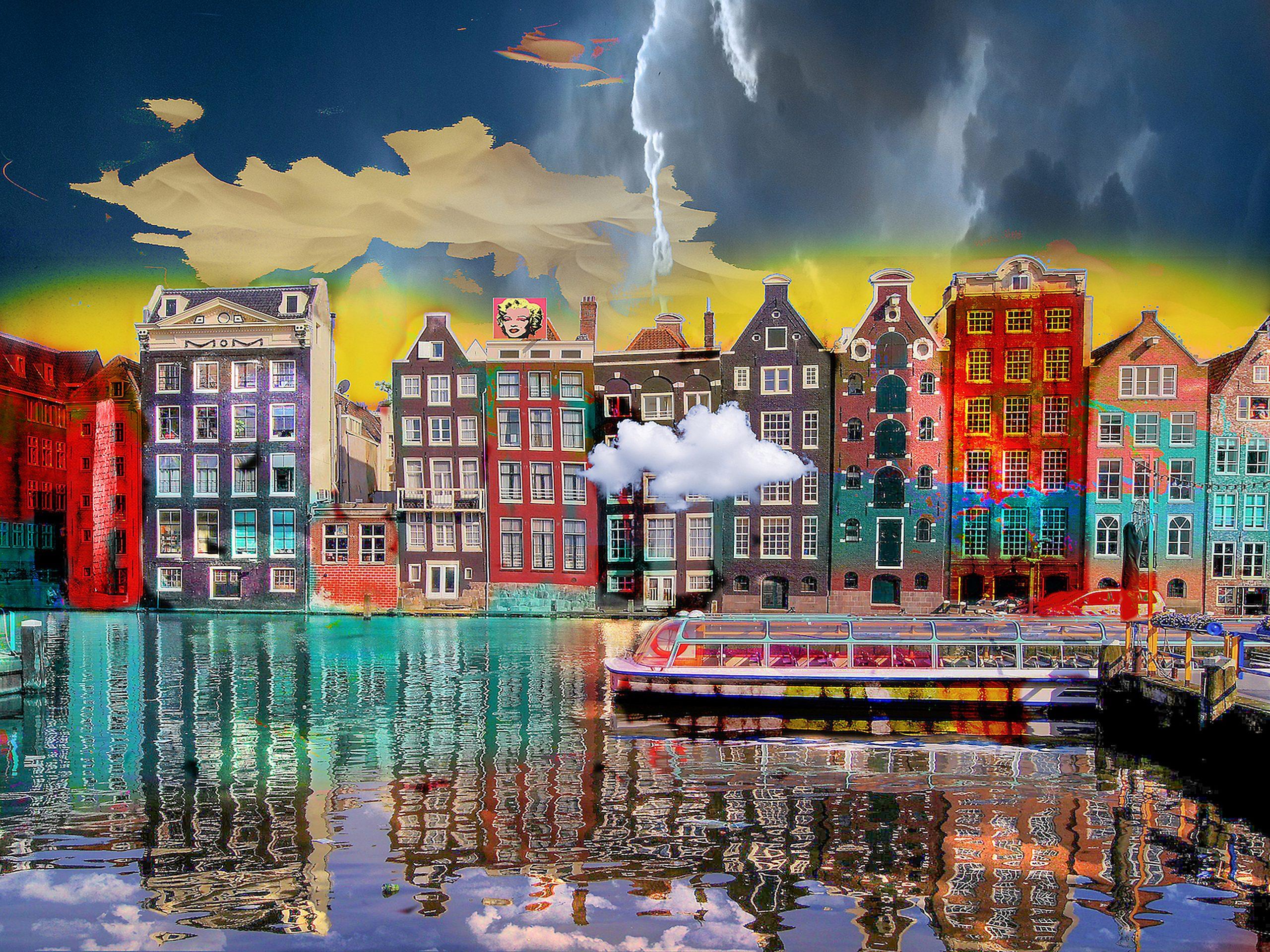 Kunst: Amsterdam view opus 1605 van kunstenaar Geert Lemmers