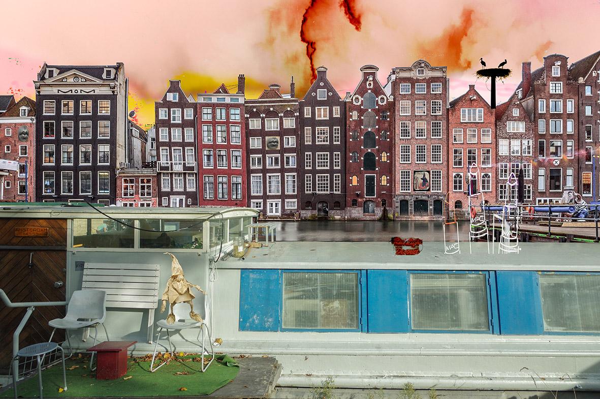 Kunst: Amsterdam View opus 1608 van kunstenaar Geert Lemmers
