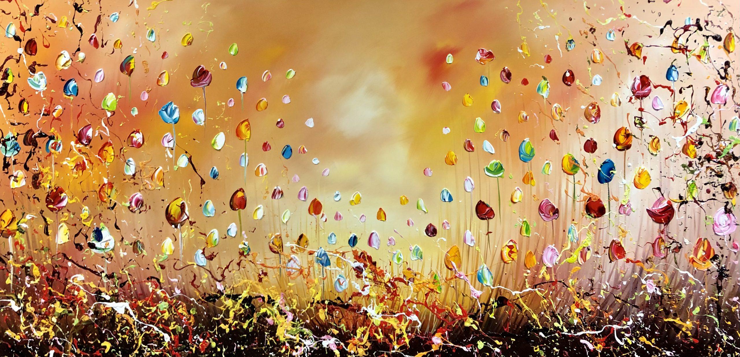 Kunst: Flowers in Sunny Sky van kunstenaar Gena n Gena