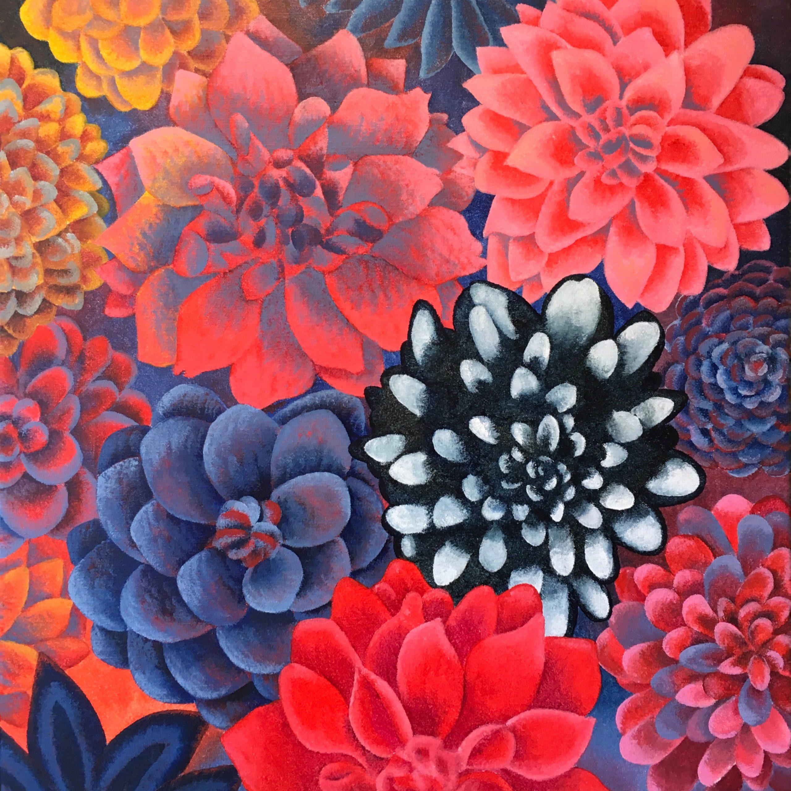 Kunst: Dahlia van kunstenaar Yvonne Zomerdijk