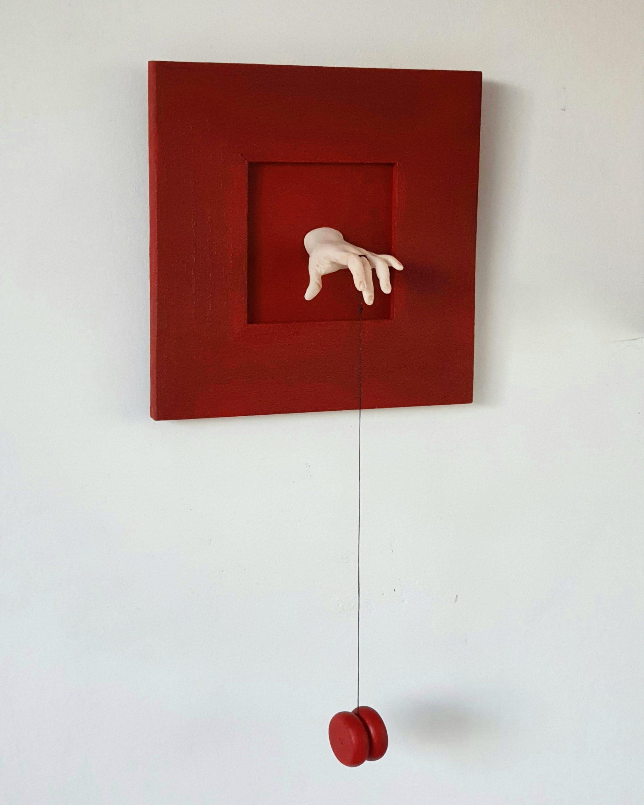 Kunst: Jojo rood van kunstenaar Saskia Hoeboer