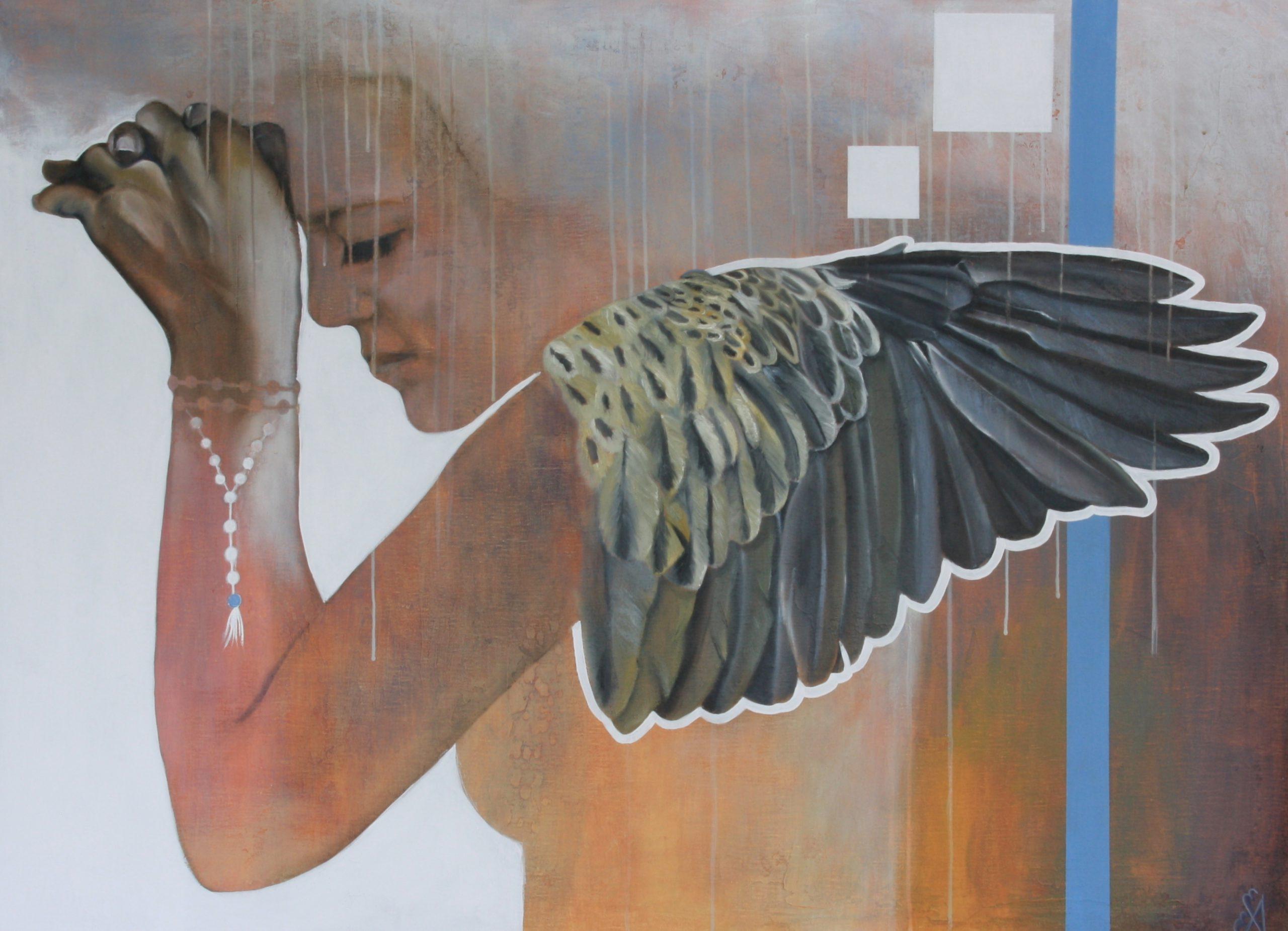 Kunst: Praying van kunstenaar Angelique-Mathijssen-van-den Bosch