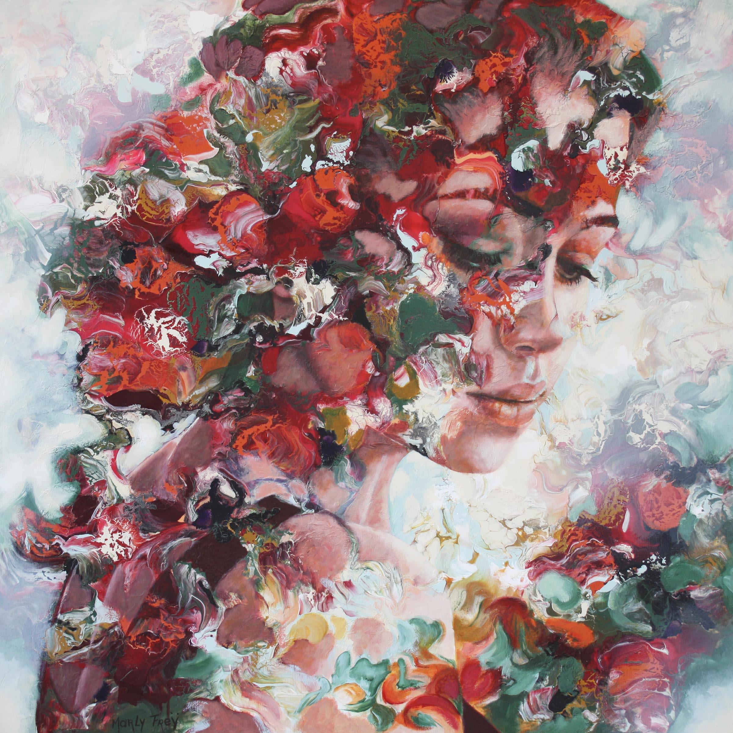 Kunst: Silently waiting van kunstenaar Marly Freij(portretten)