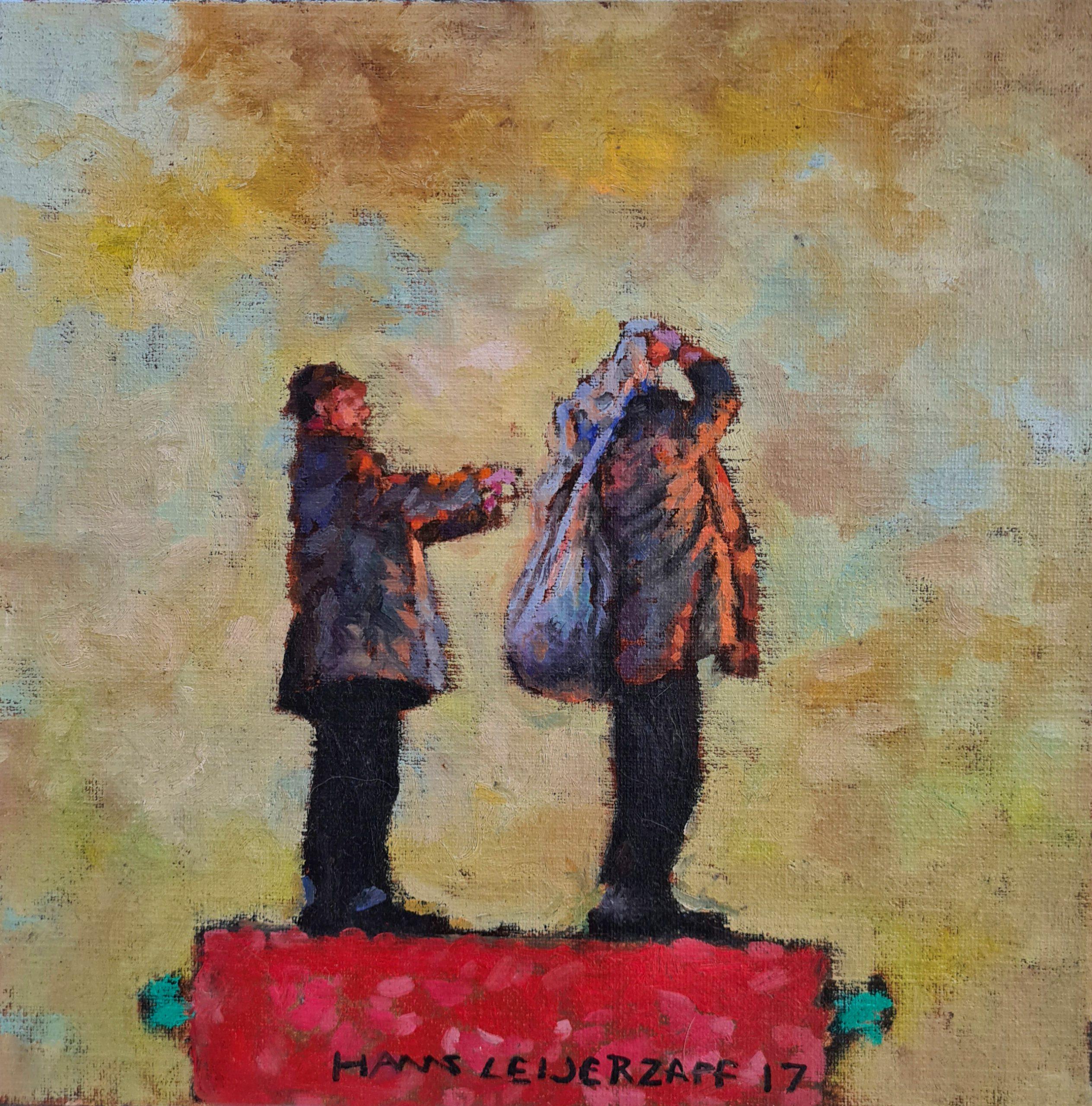 Kunst: Toen heeft hij het maar gedaan van kunstenaar Hans Leijerzapf