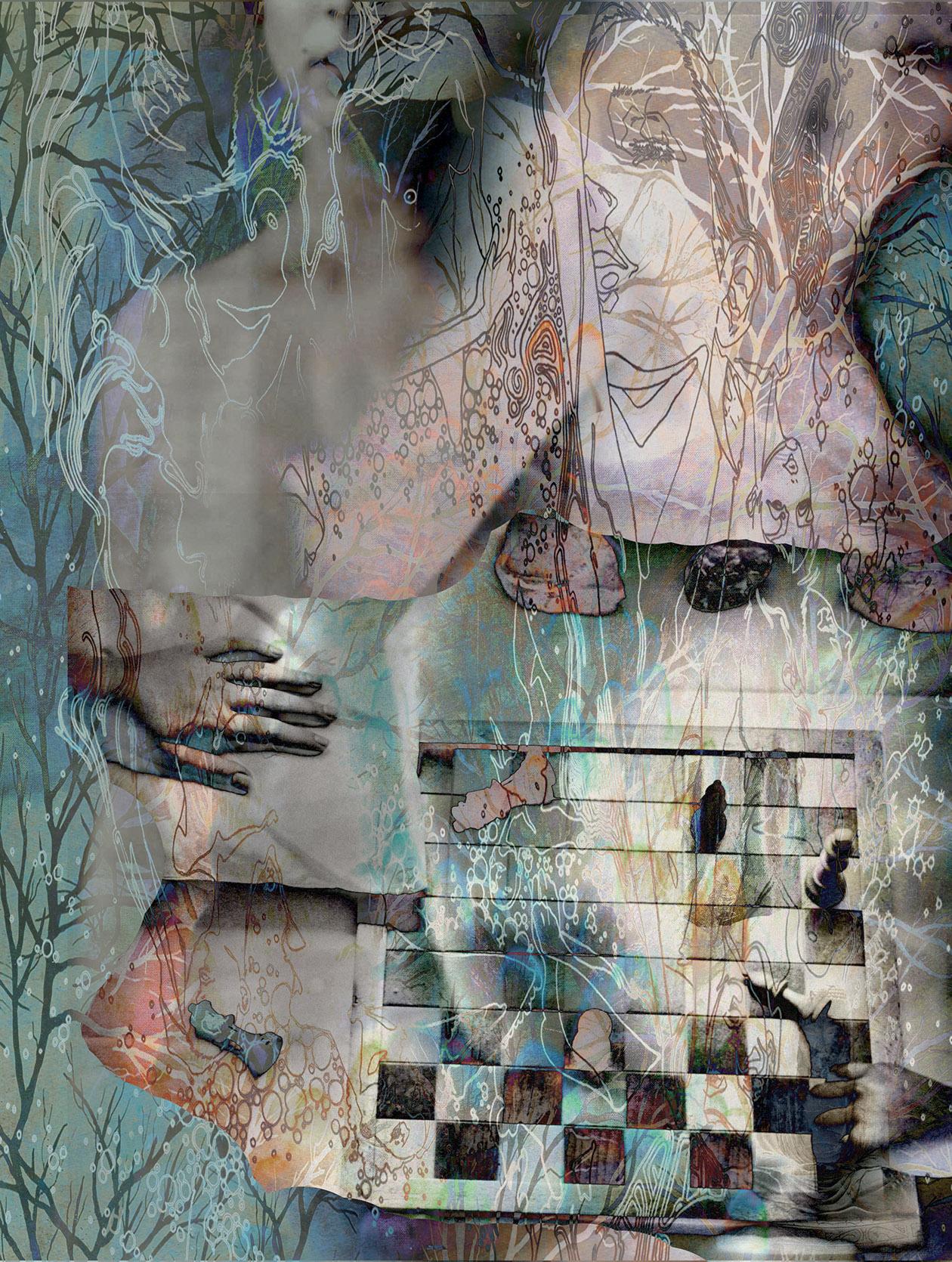 Kunst: vrouwen aan het schaakbord van kunstenaar Geert Lemmers