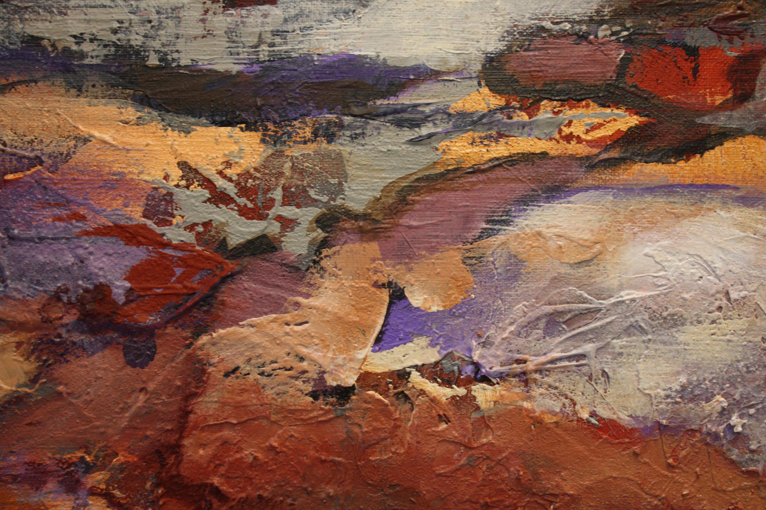 Kunst: Abstract landschap 2105 van kunstenaar Marly Freij(vergezichten)