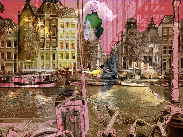 Kunst: Amsterdam view opus 1207 van kunstenaar Geert Lemmers