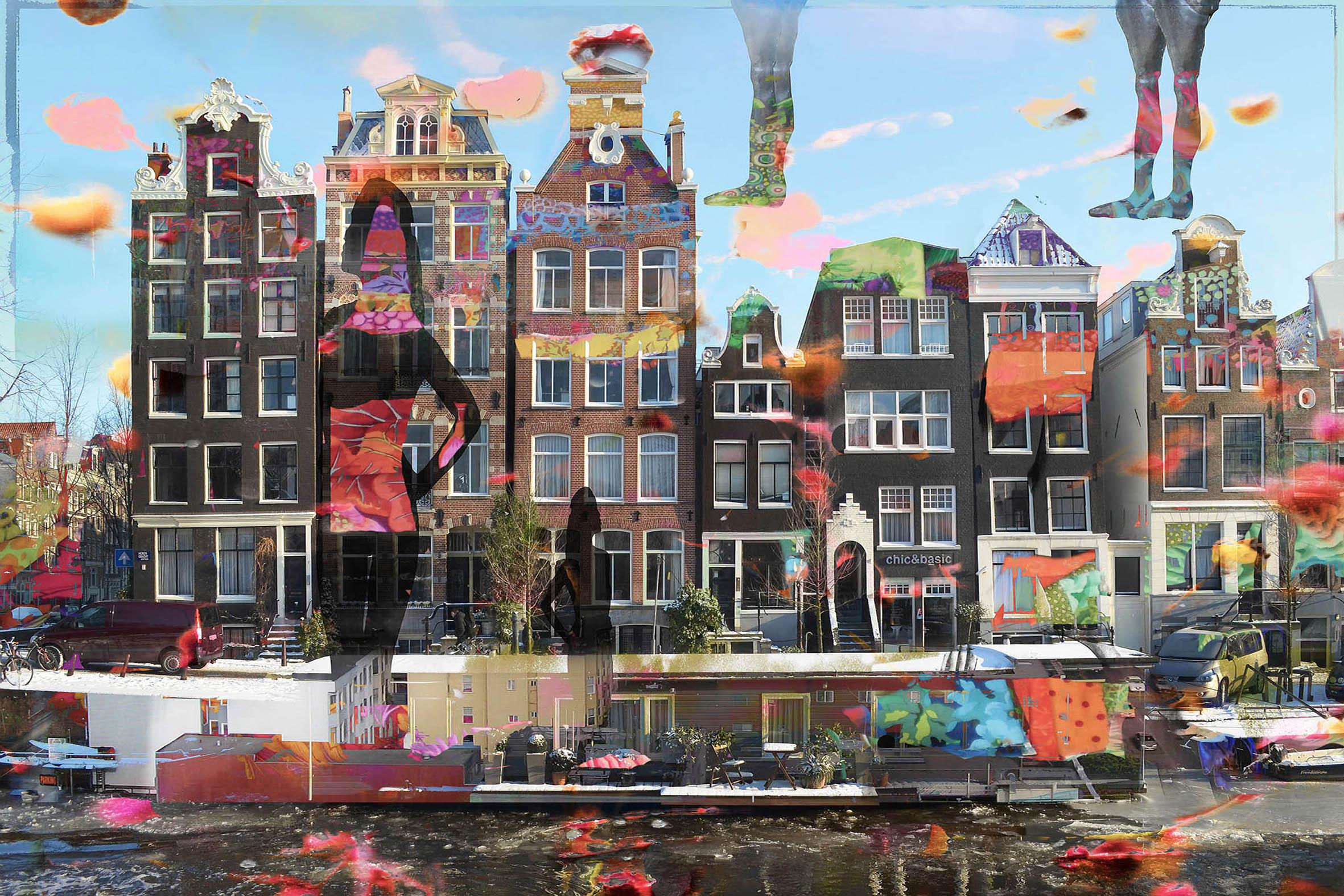 Kunst: Amsterdam view opus 45 van kunstenaar Geert Lemmers