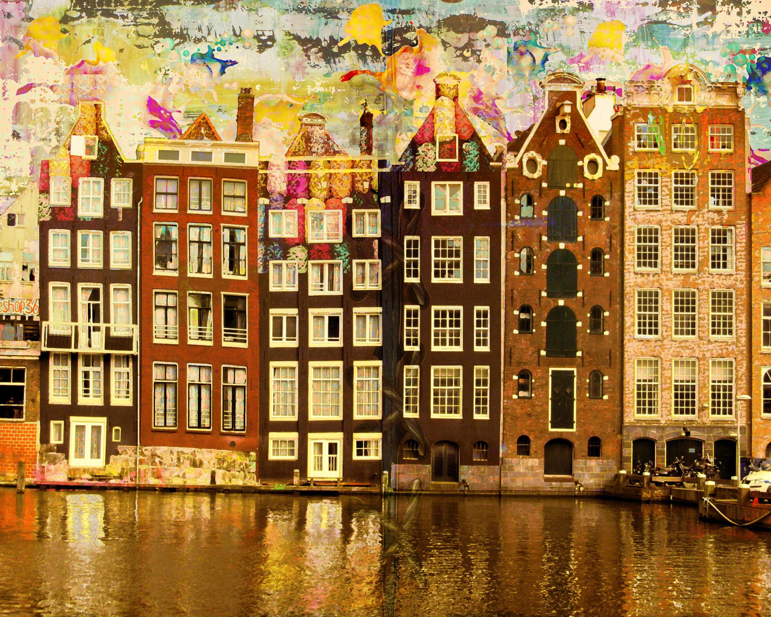 Kunst: Amsterdam View Opus 774 van kunstenaar Geert Lemmers