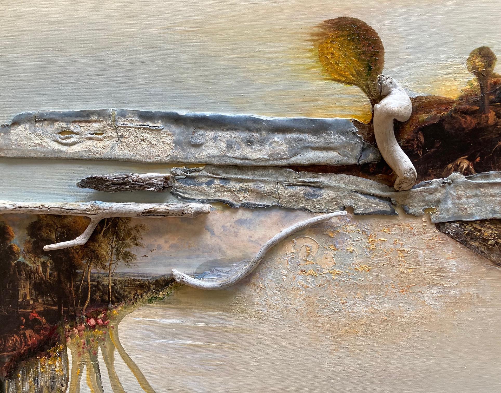Kunst: Fragments of Rubens VII Herfstlandschap van kunstenaar Els Vegter