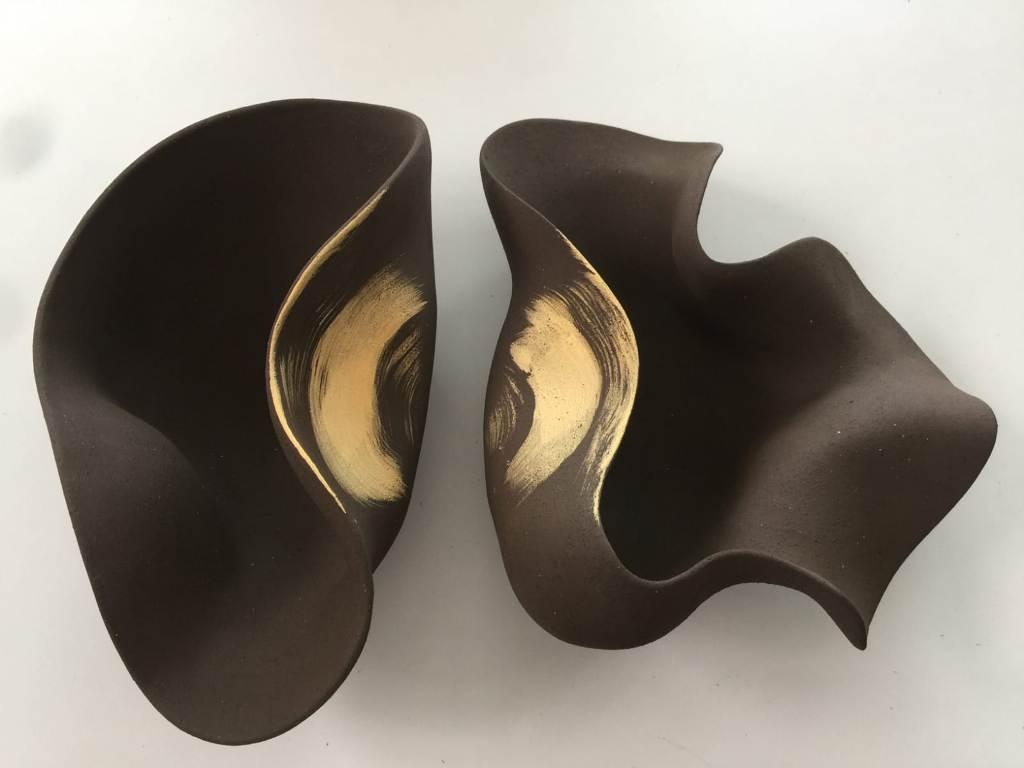 Kunst: Golden Connection van kunstenaar Liliane Demeester