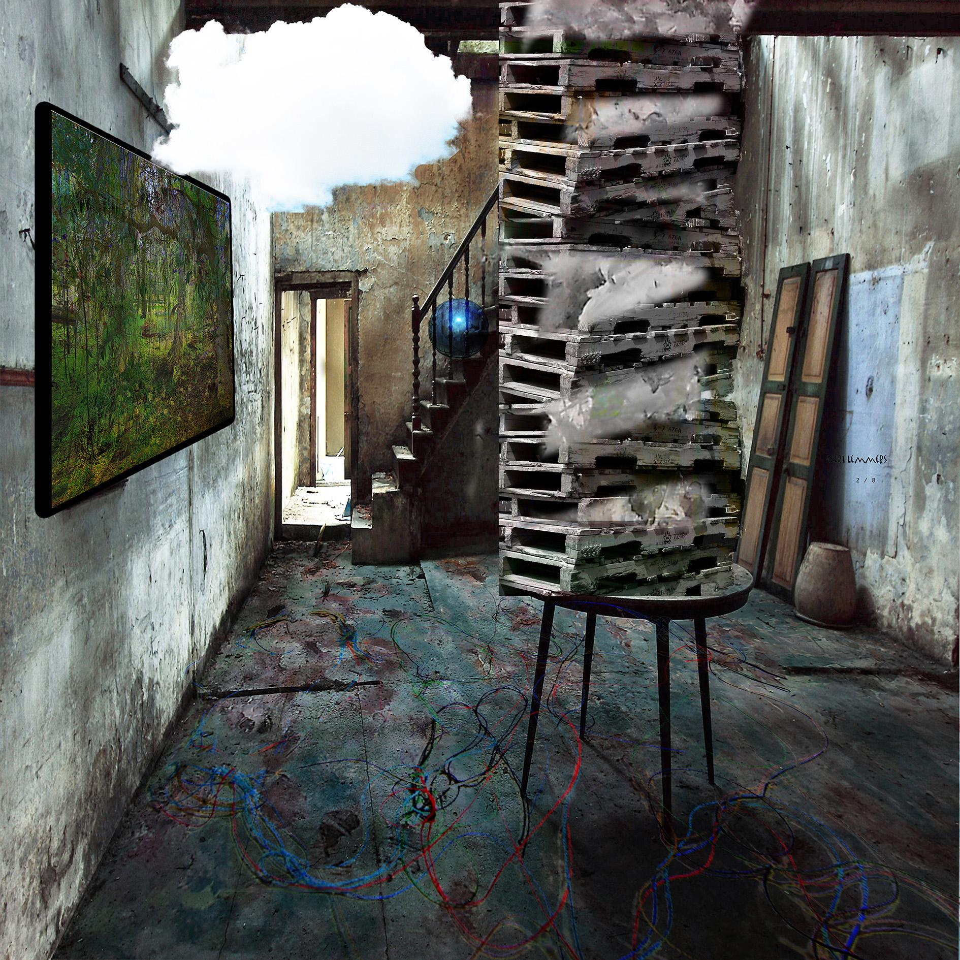 Kunst: Inside with cloud van kunstenaar Geert Lemmers