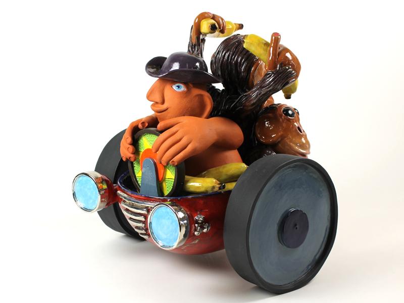 Kunst: Joyful Ride van kunstenaar Margarita van der Velden