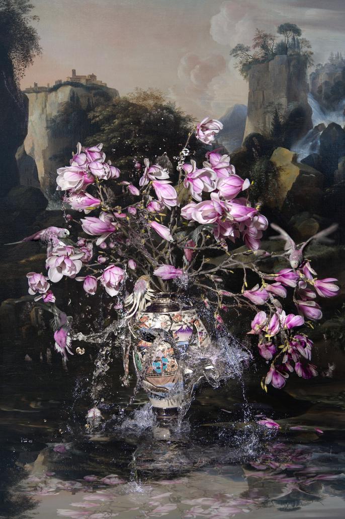 Kunst: Magnolia in storm van kunstenaar Hans Withoos