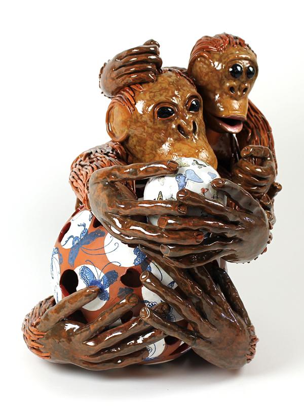 Kunst: Playing Together van kunstenaar Margarita van der Velden