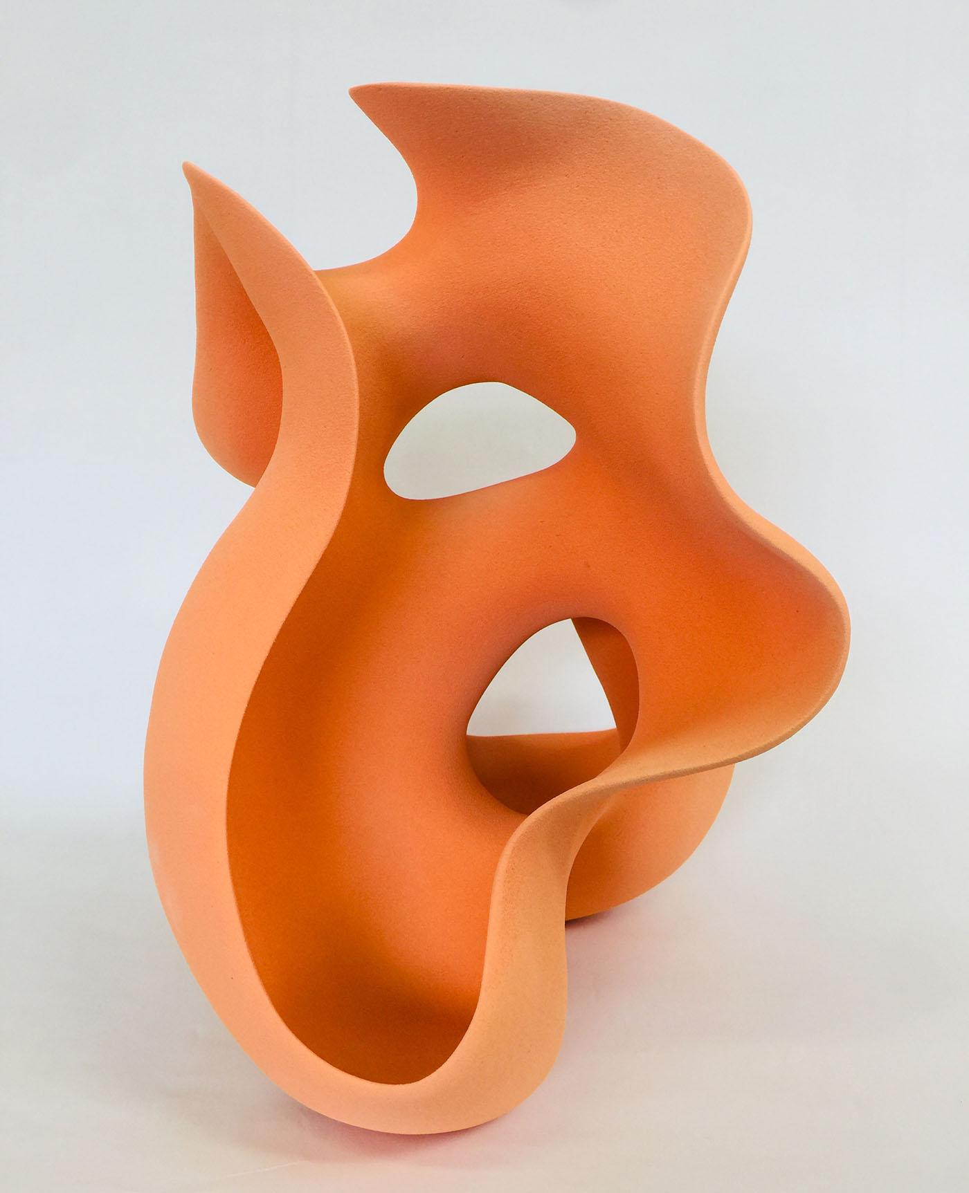 Kunst: Soft Orange van kunstenaar Liliane Demeester