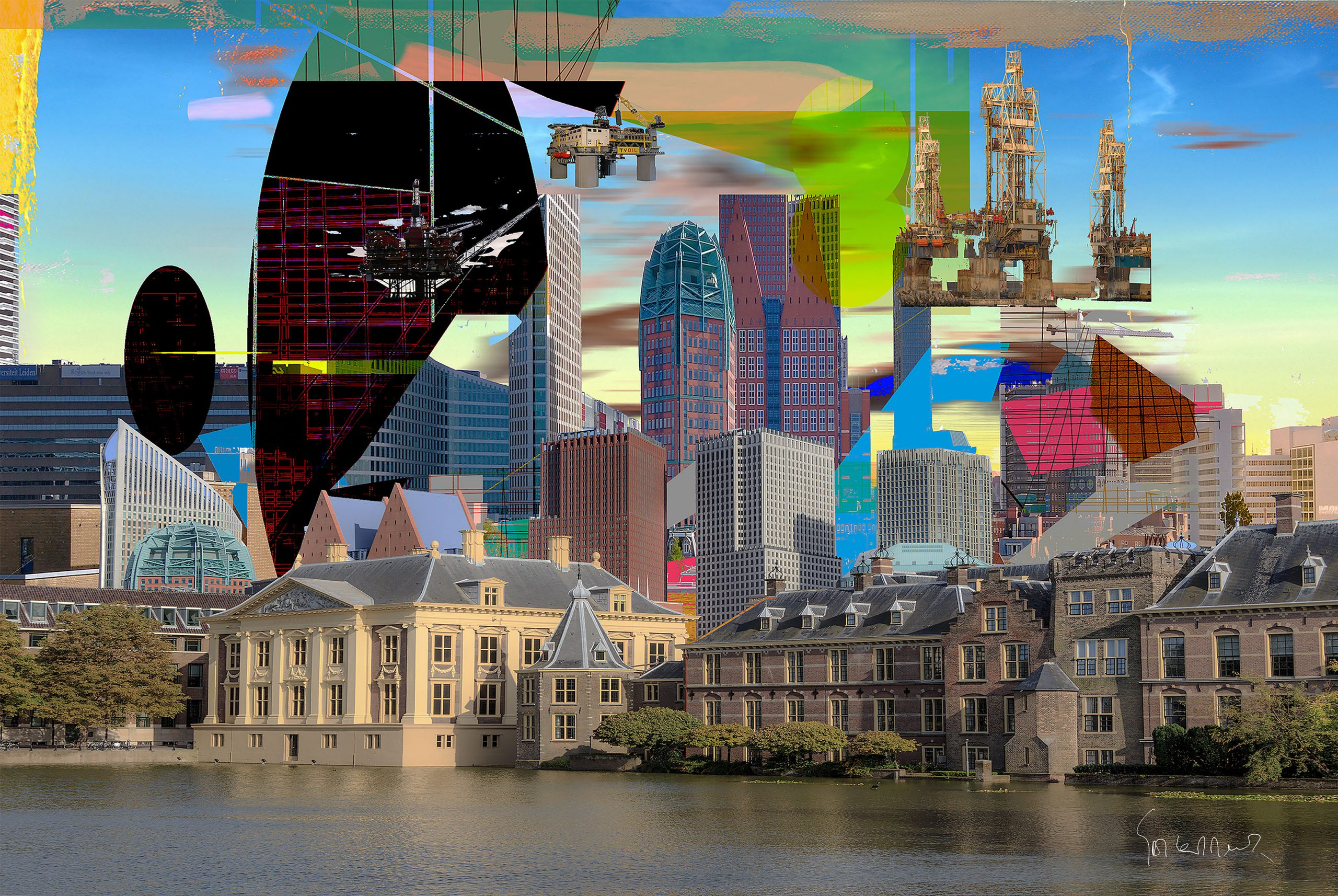 Kunst: TheHague View Opus I van kunstenaar Geert Lemmers