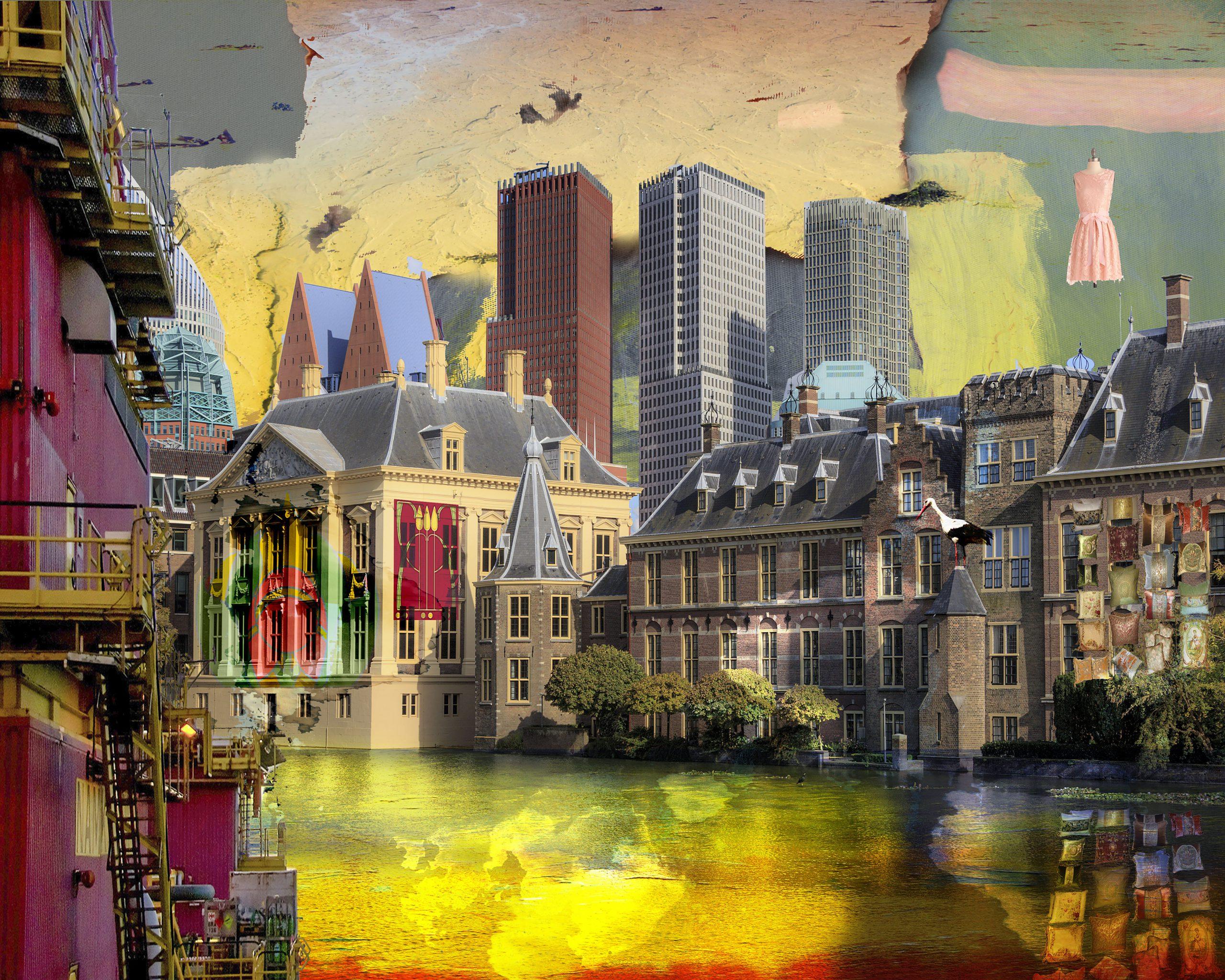 Kunst: TheHague View opus III van kunstenaar Geert Lemmers