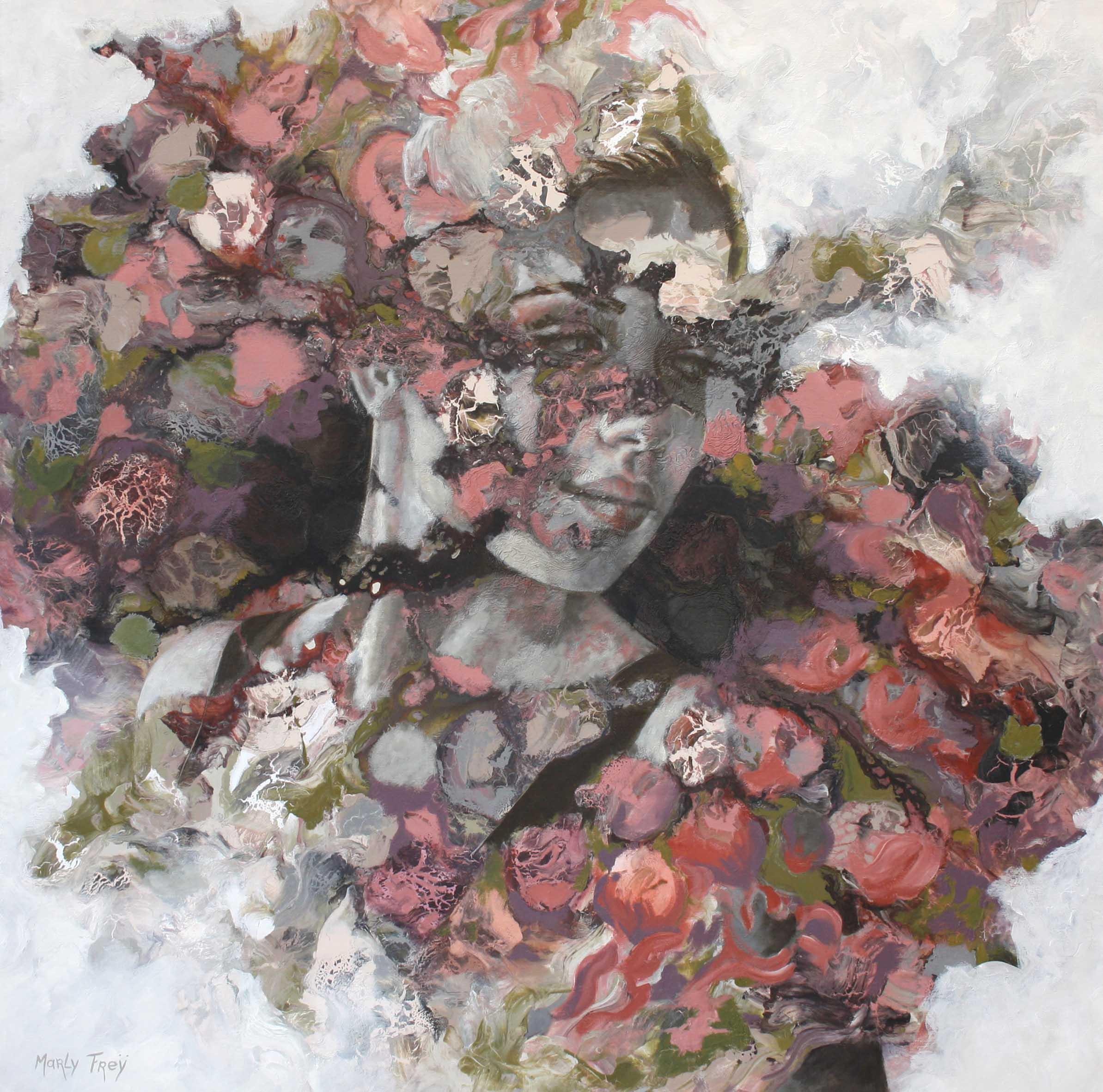 Kunst: Turn back time van kunstenaar Marly Freij(portretten)