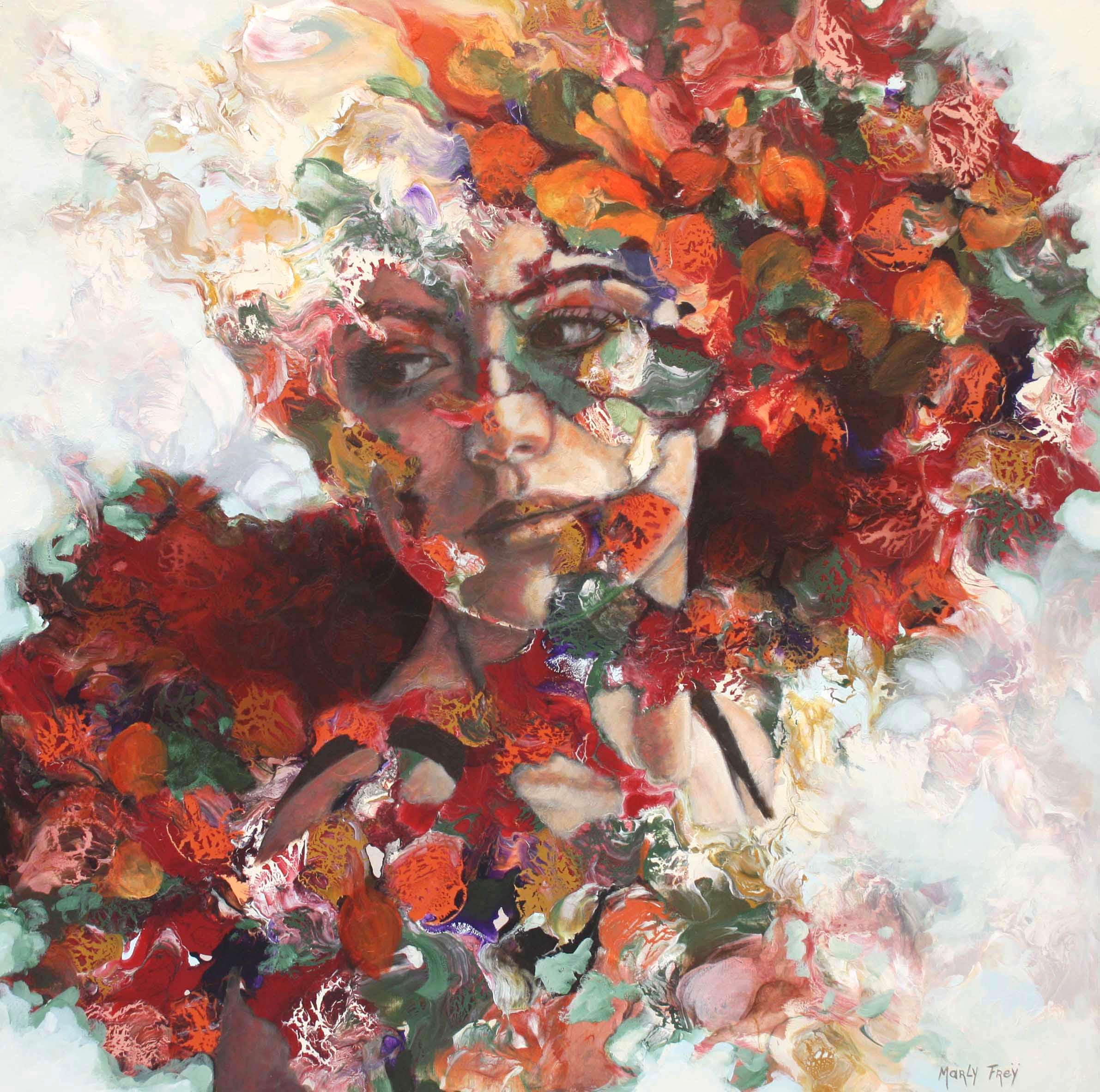 Kunst: Turning point van kunstenaar Marly Freij(portretten)