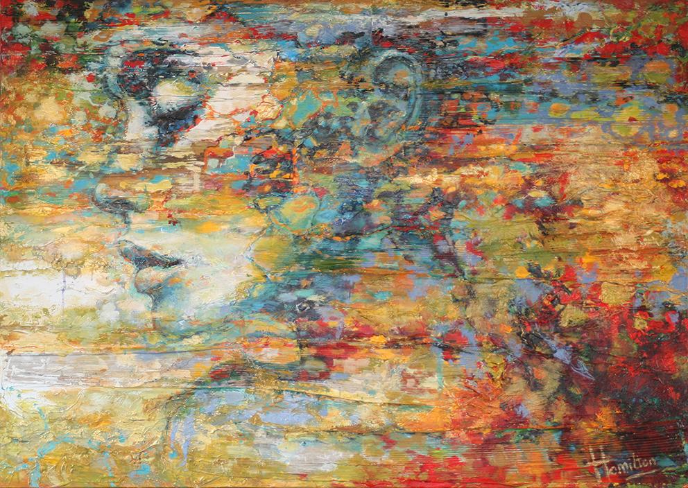 Kunst: A golden touch van kunstenaar Evelyn Hamilton