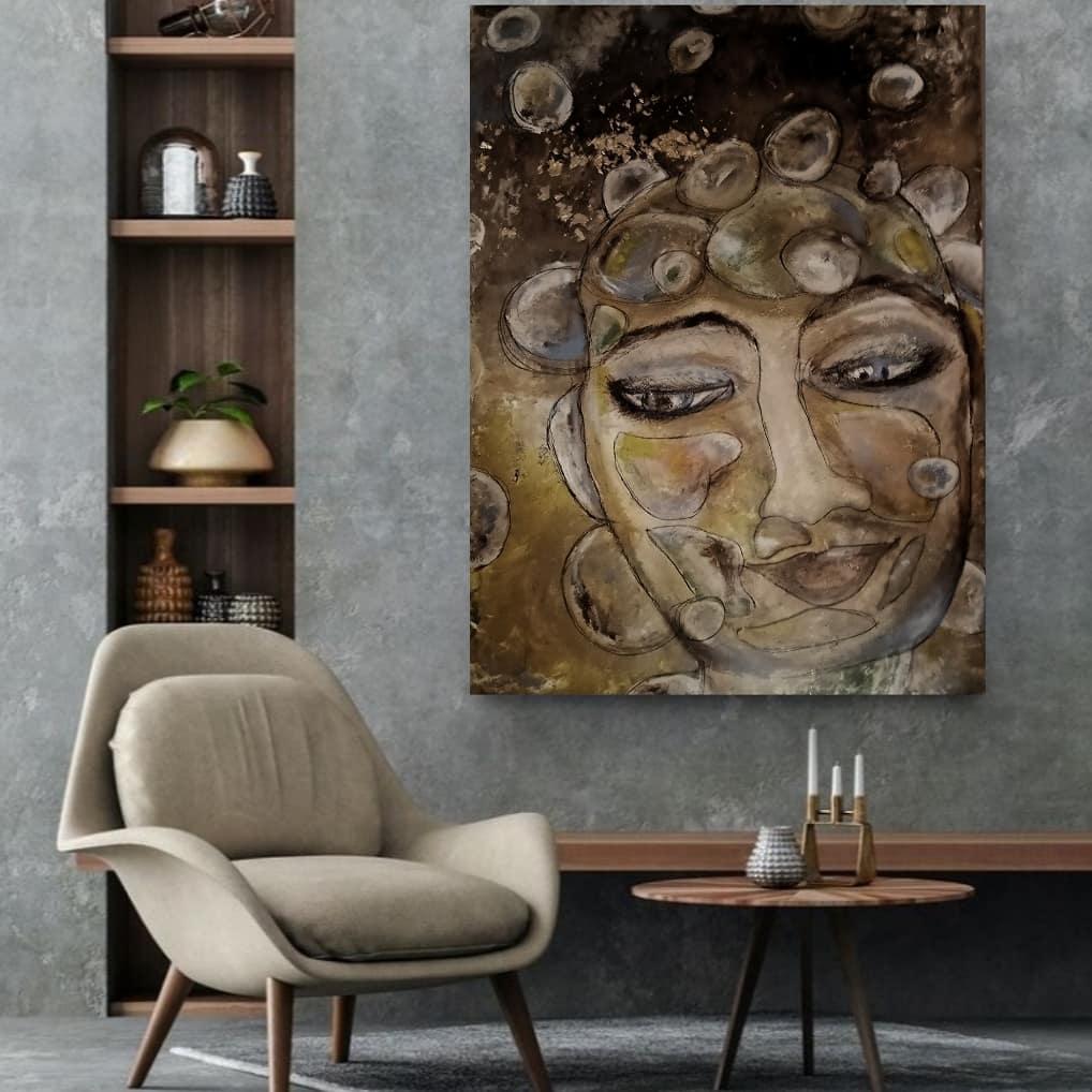 Kunst: Bubbles in my mind 120×80 cm van kunstenaar Carla Broeckx