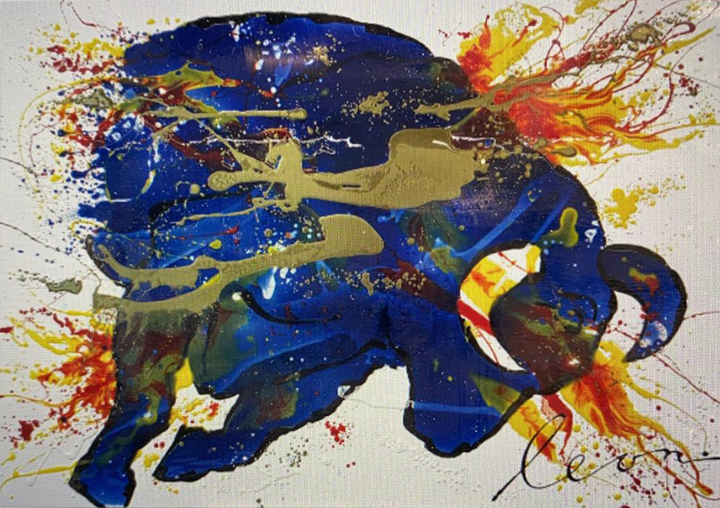 Kunst: Bull bull van kunstenaar Leon Bosboom