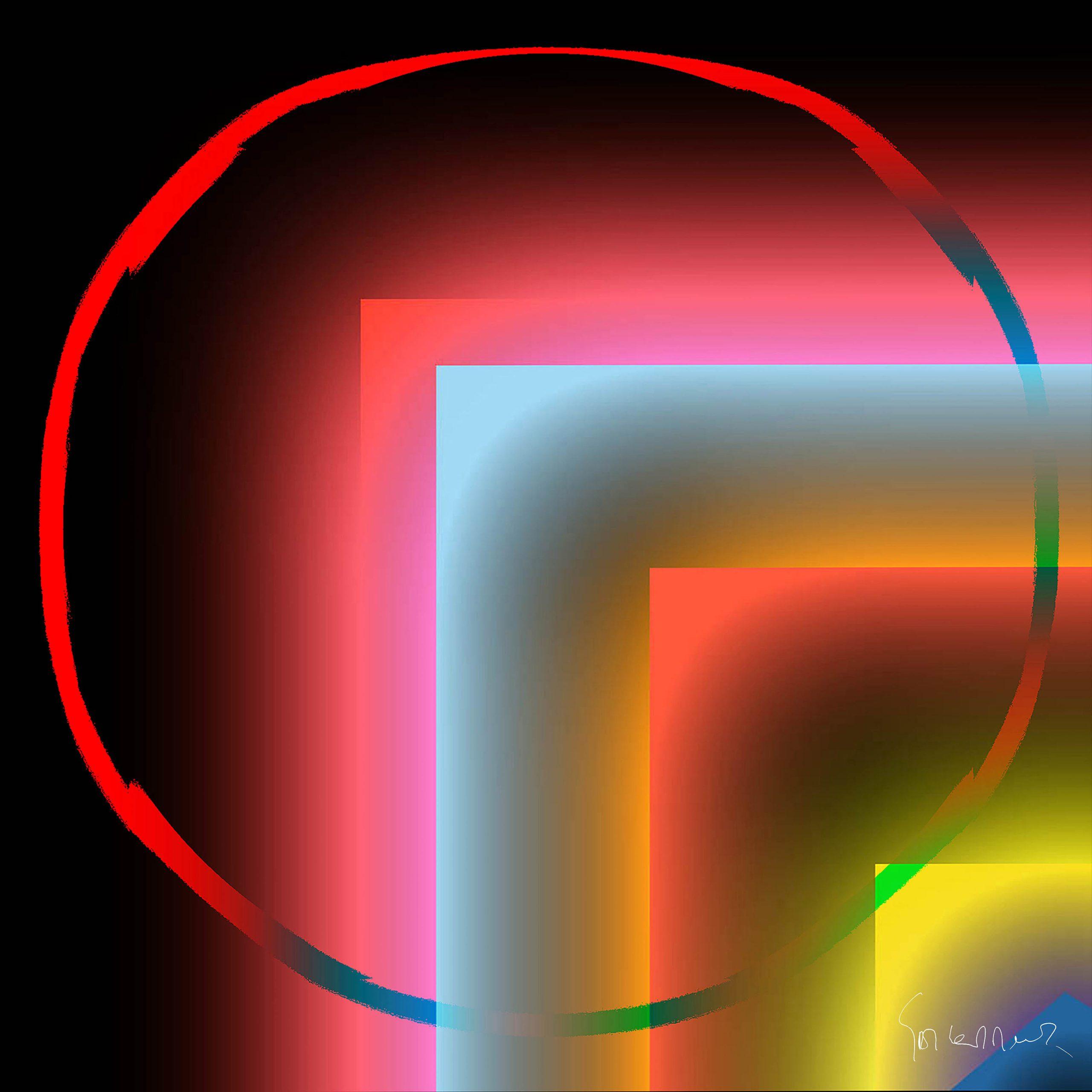 Kunst: Glowing sensitive existence opus 70 van kunstenaar Geert Lemmers