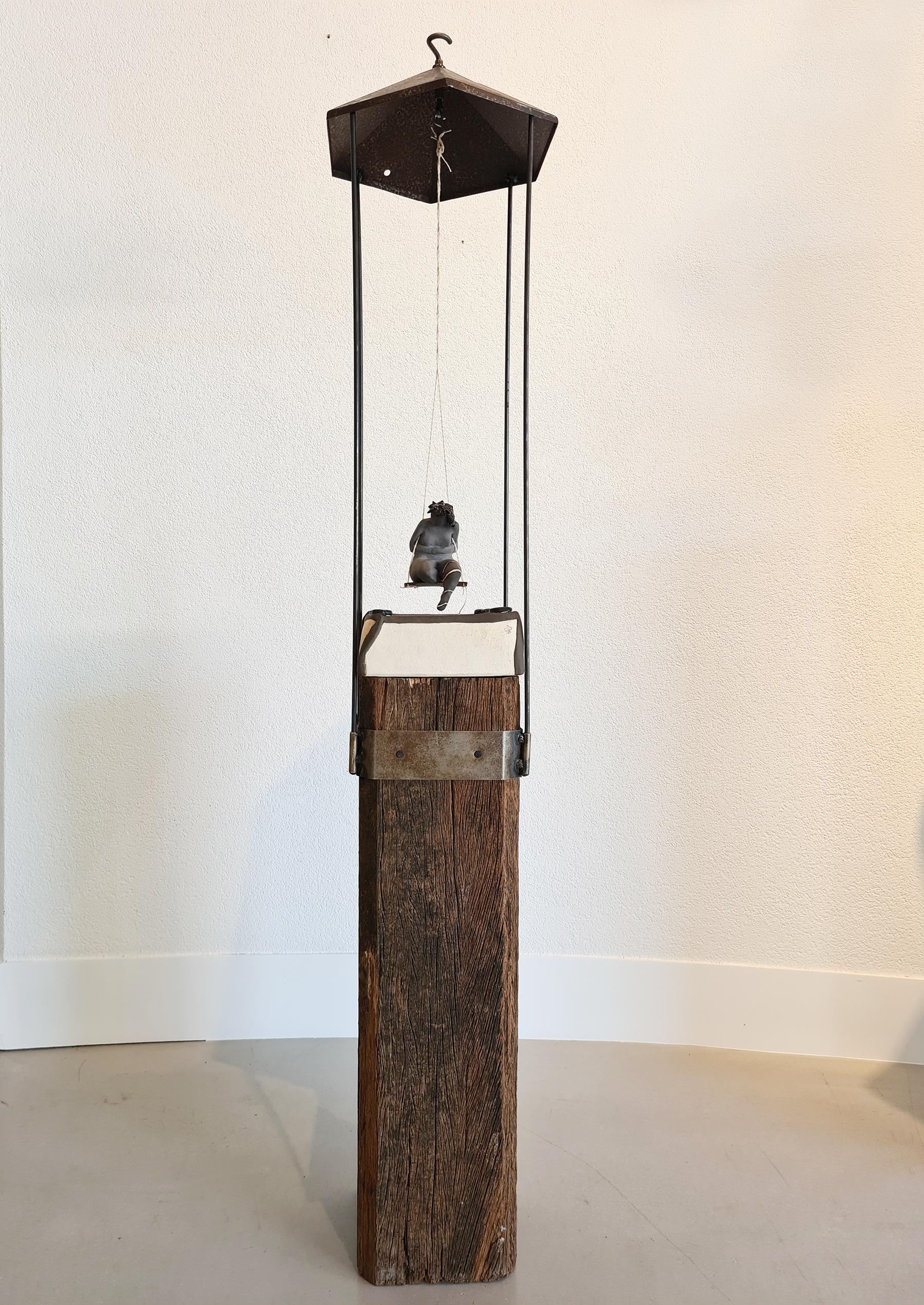 Kunst: OPWINDING no 1.   Rond tollen… van kunstenaar Marja Verkerk-Smit