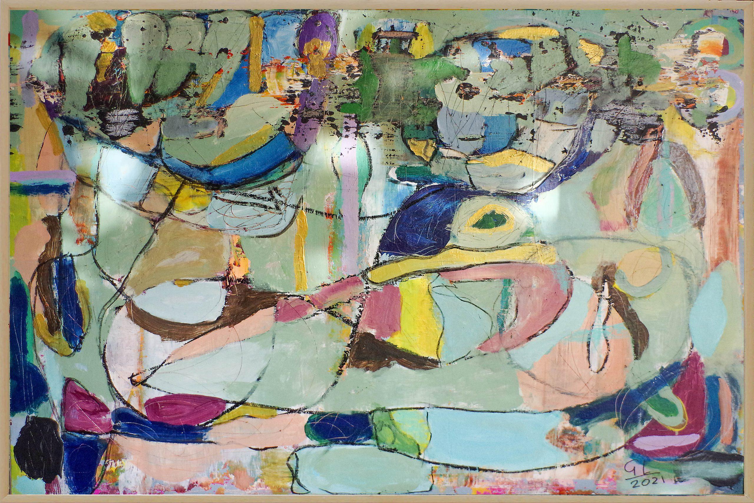 Kunst: Plateau der Menschheit opus 54 van kunstenaar Geert Lemmers
